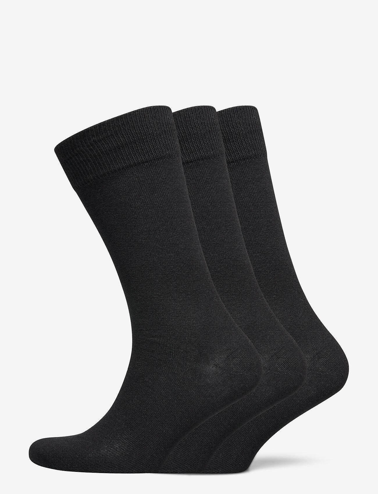Selected Homme - SLH3-PACK COTTON SOCK - chaussettes régulières - black - 0