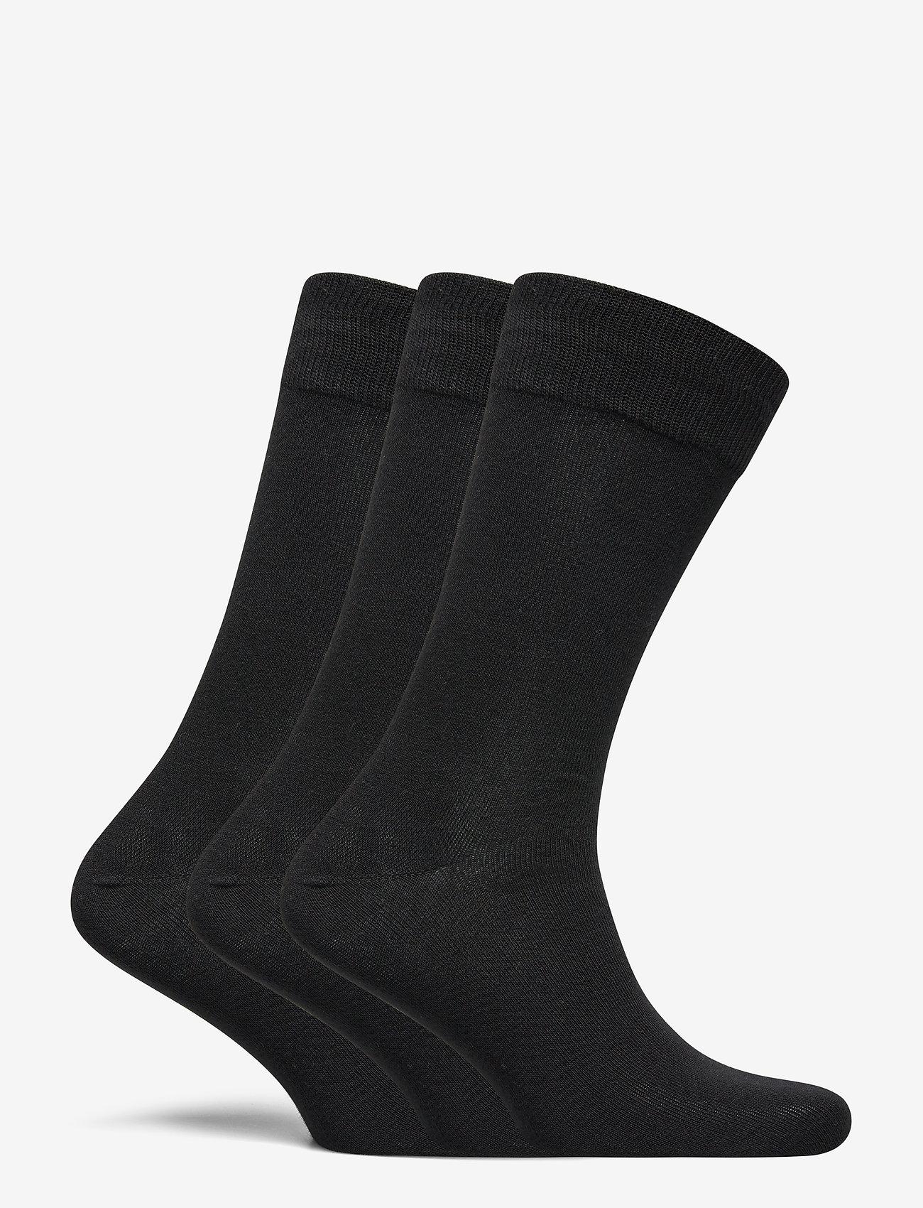 Selected Homme - SLH3-PACK COTTON SOCK - chaussettes régulières - black - 1
