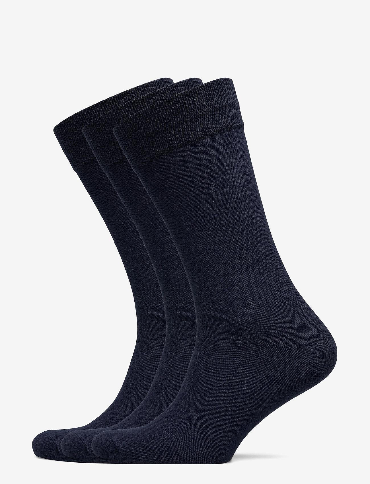 Selected Homme - SLH3-PACK COTTON SOCK - chaussettes régulières - navy blazer - 0