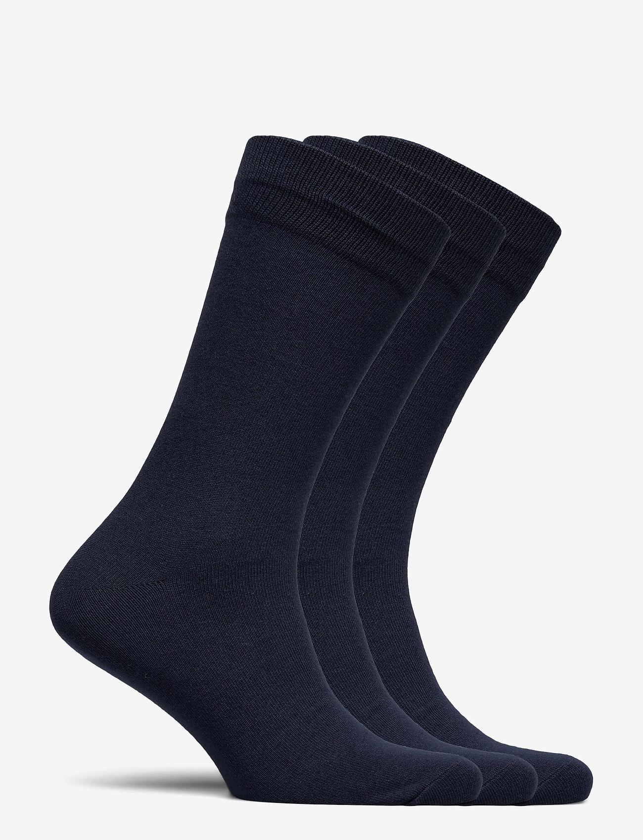 Selected Homme - SLH3-PACK COTTON SOCK - chaussettes régulières - navy blazer - 1