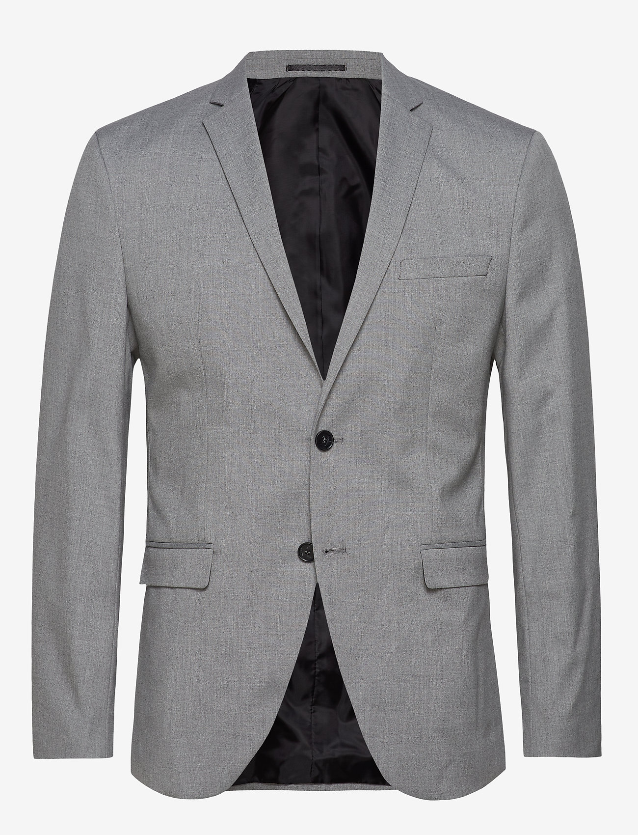 Selected Homme - SLHSLIM-MYLOLOGAN LIGHT GREY BLZ B NOOS - enkeltradede jakkesæt - light grey melange - 0