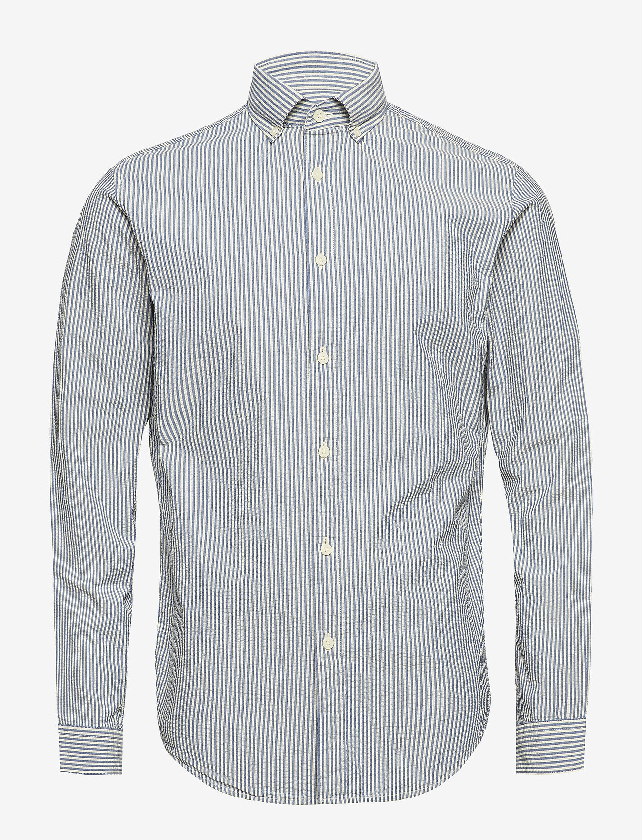 Selected Homme - SHHTWOOLIVER SHIRT LS SEERSUCKER - business shirts - blue aster