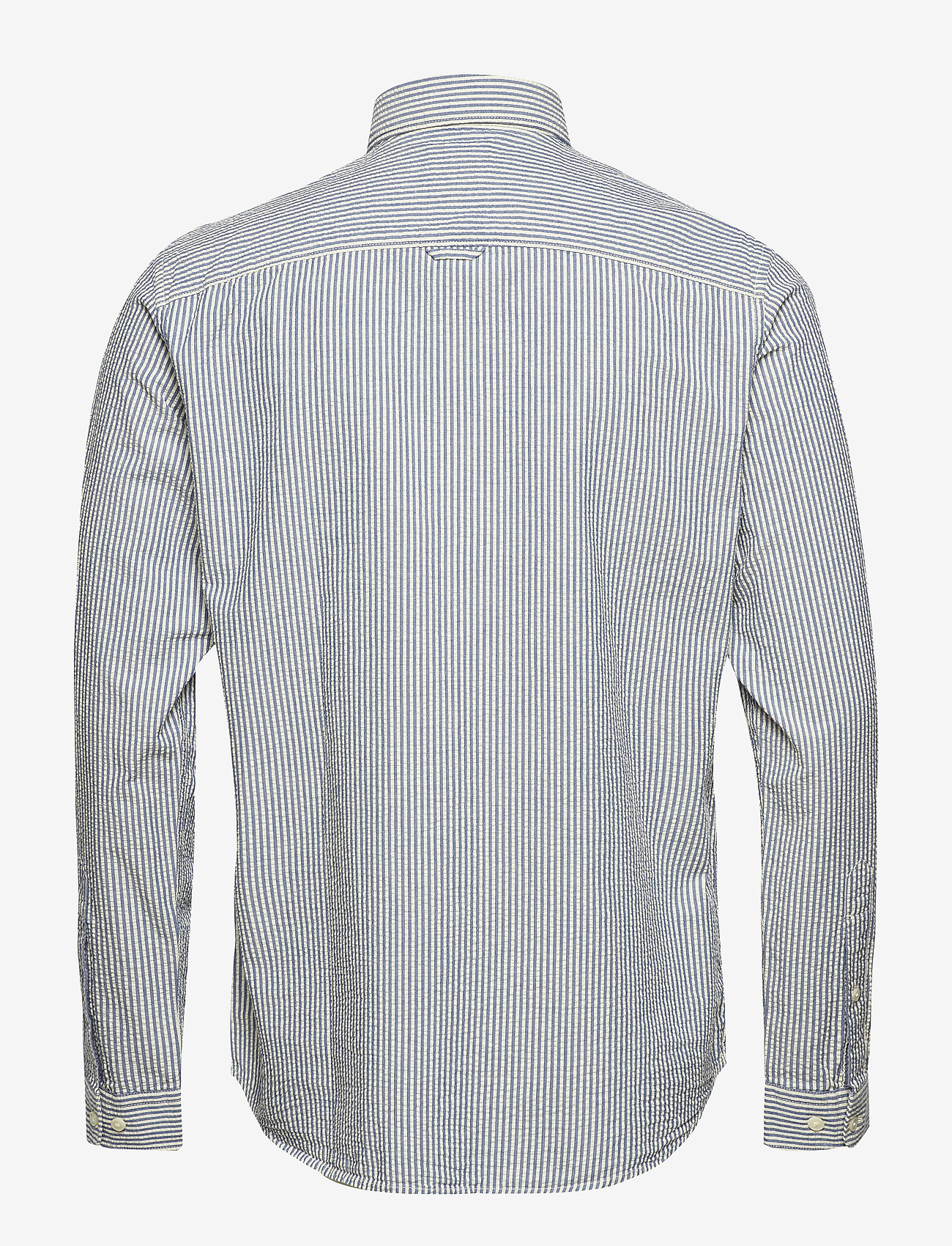 Selected Homme - SHHTWOOLIVER SHIRT LS SEERSUCKER - chemises business - blue aster