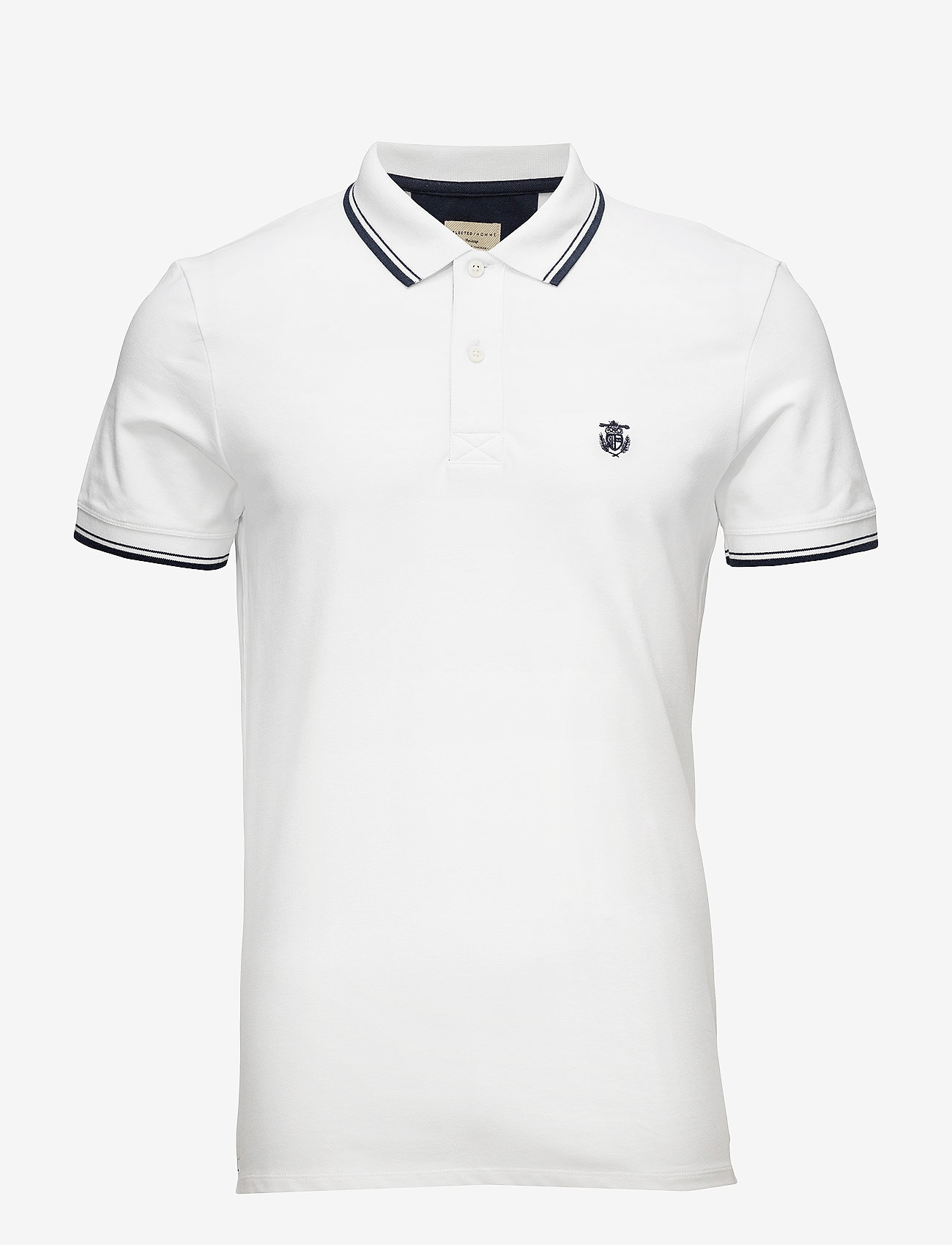 Selected Homme - SLHNEWSEASON SS POLO W NOOS - kurzärmelig - bright white - 0