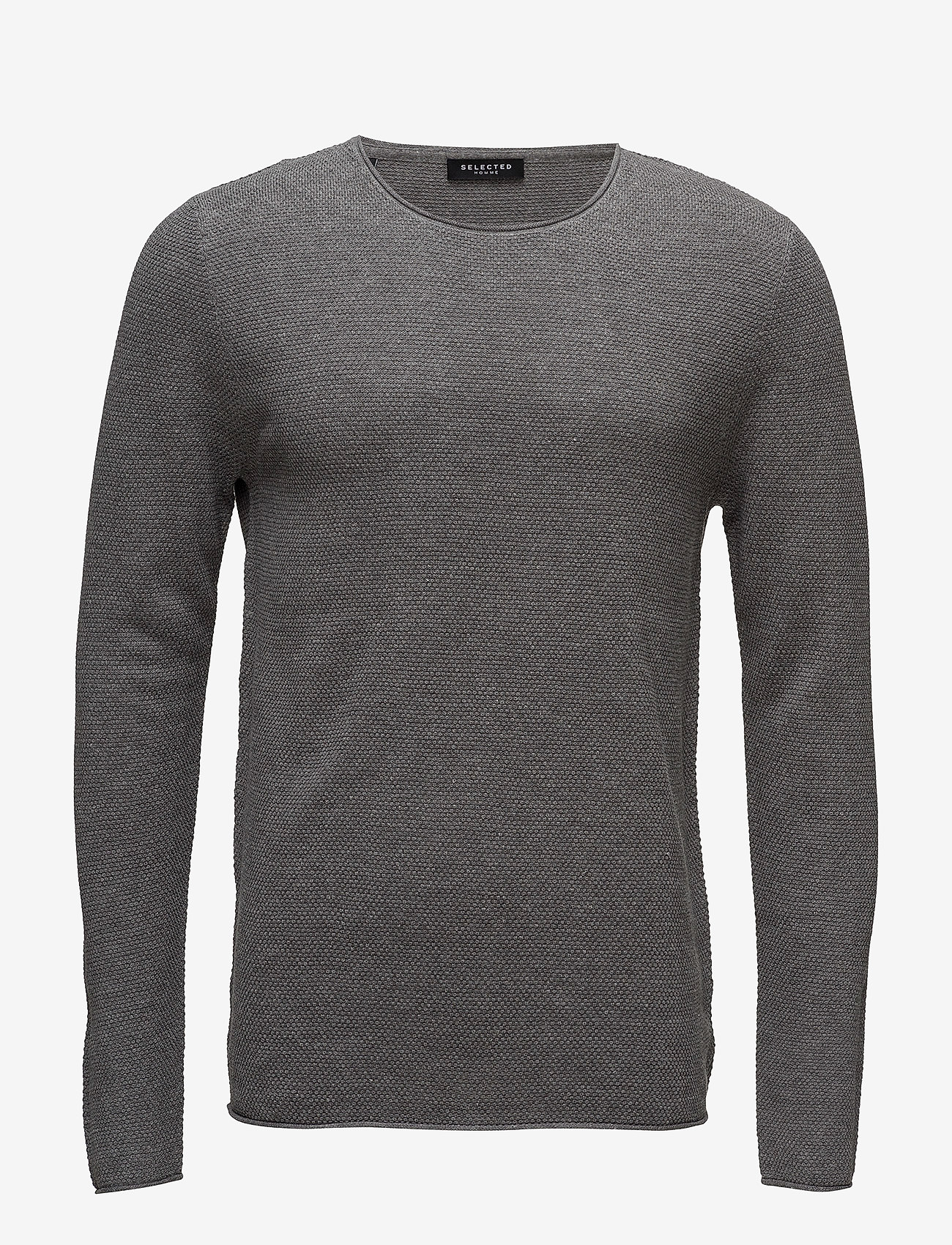 Selected Homme - SLHROCKY CREW NECK B NOOS - basic strik - medium grey melange - 0