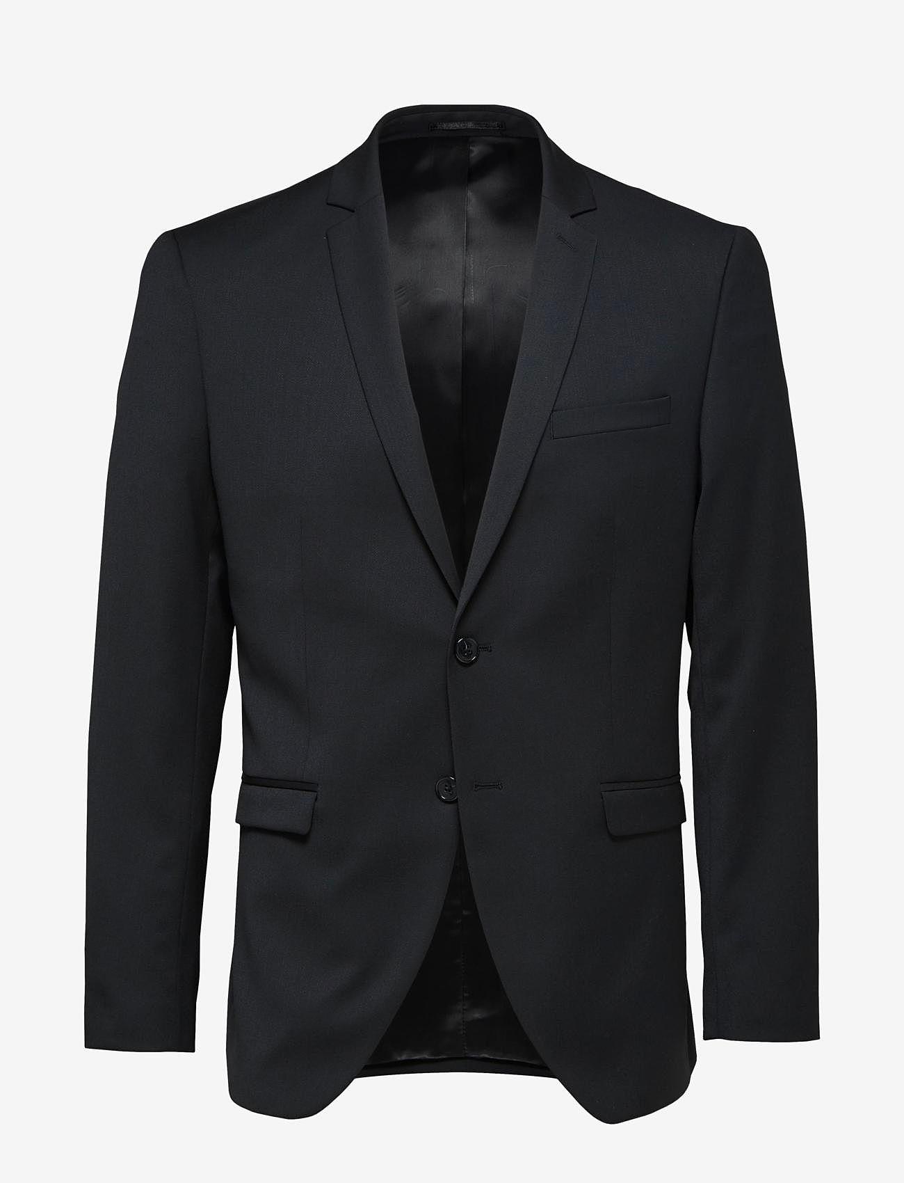 Selected Homme - SLHSLIM-MYLOBILL BLACK BLZ B - single breasted blazers - black - 0