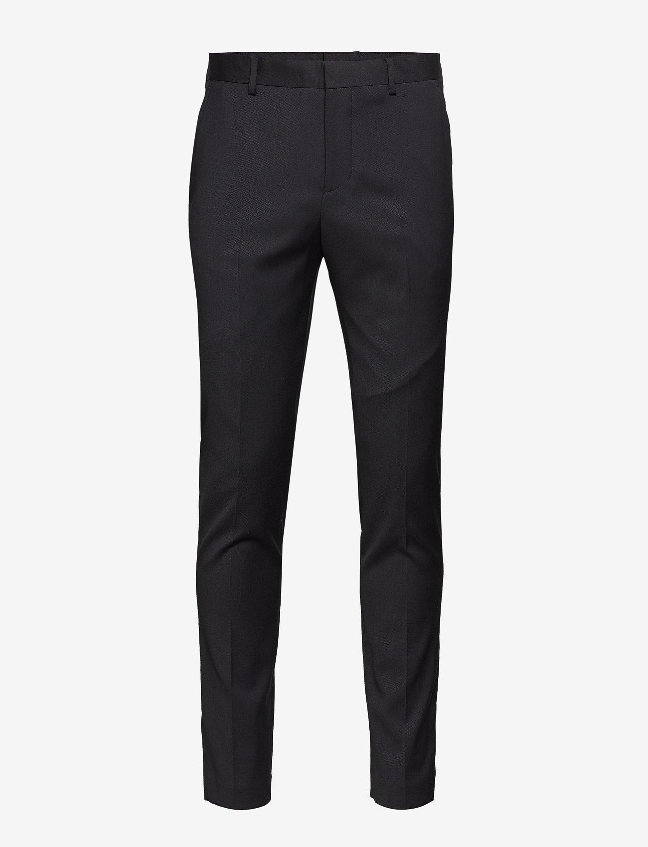 Selected Homme - SLHSLIM-MYLOBILL BLACK TRS B NOOS - suitbukser - black - 0