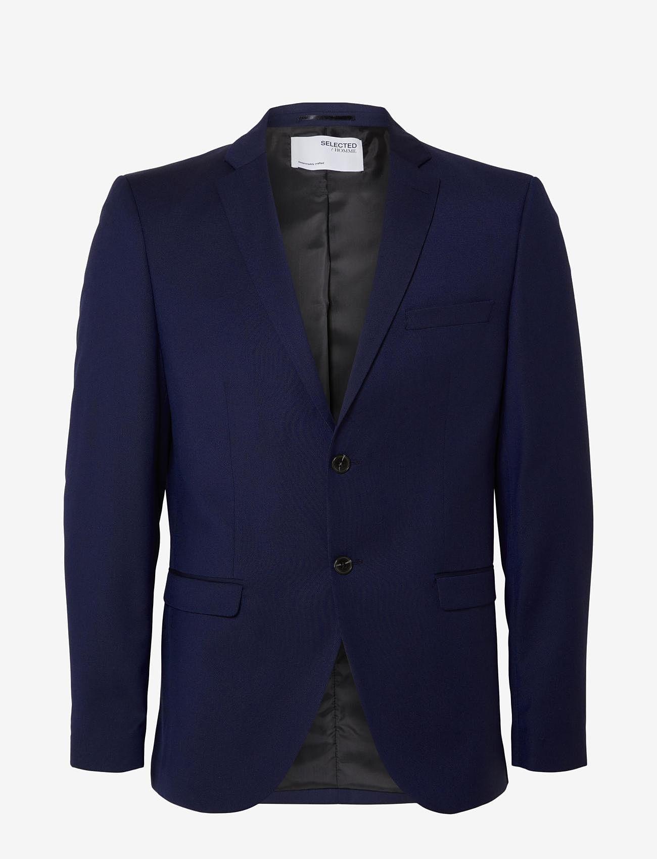 Selected Homme - SLHSLIM-MYLOBILL BLUE BLZ B NOOS - enkelknäppta kostymer - blue depths - 0