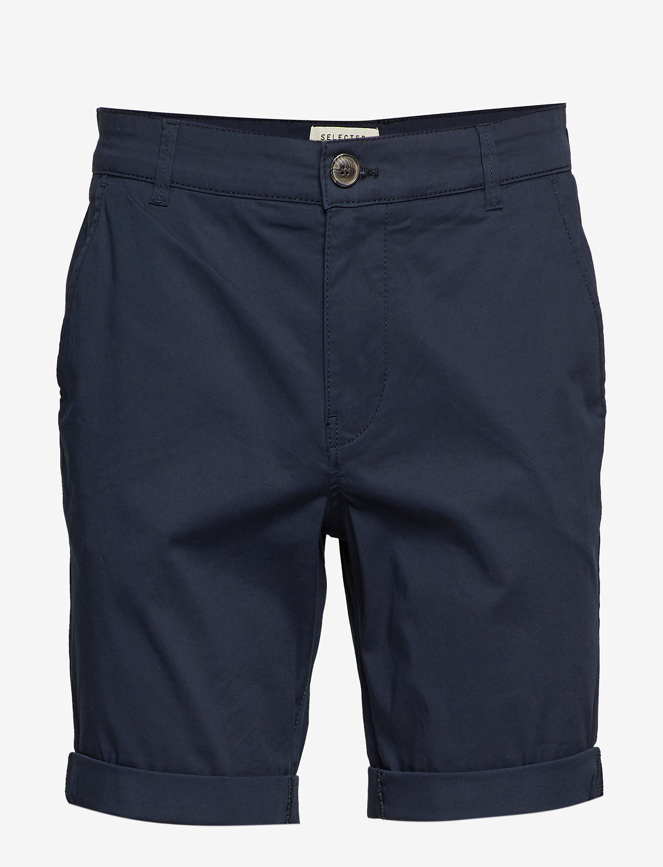 Selected Homme - SLHSTRAIGHT-PARIS SHORTS W NOOS - chino's shorts - dark sapphire - 0