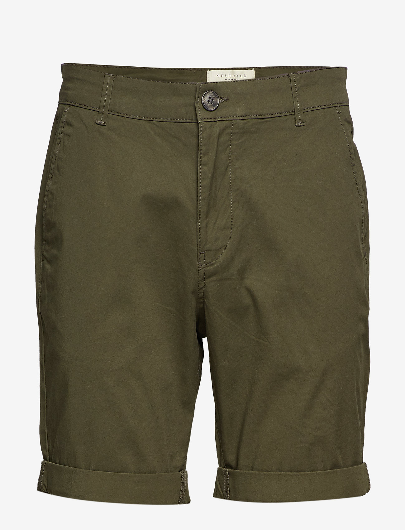 Selected Homme - SLHSTRAIGHT-PARIS SHORTS W NOOS - spodenki chinos - deep depths - 0