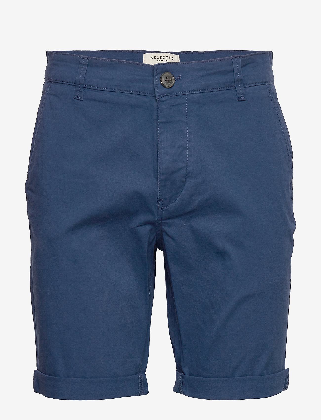 Selected Homme - SLHSTRAIGHT-PARIS SHORTS W NOOS - chino's shorts - estate blue - 0