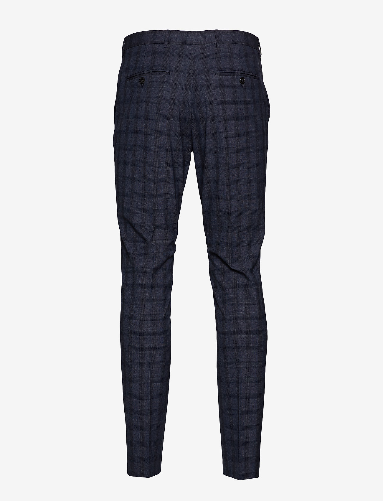 Selected Homme - SLHSLIM-MYLOLOGAN NAVY CHECK TRS B NOOS - suit trousers - navy blue