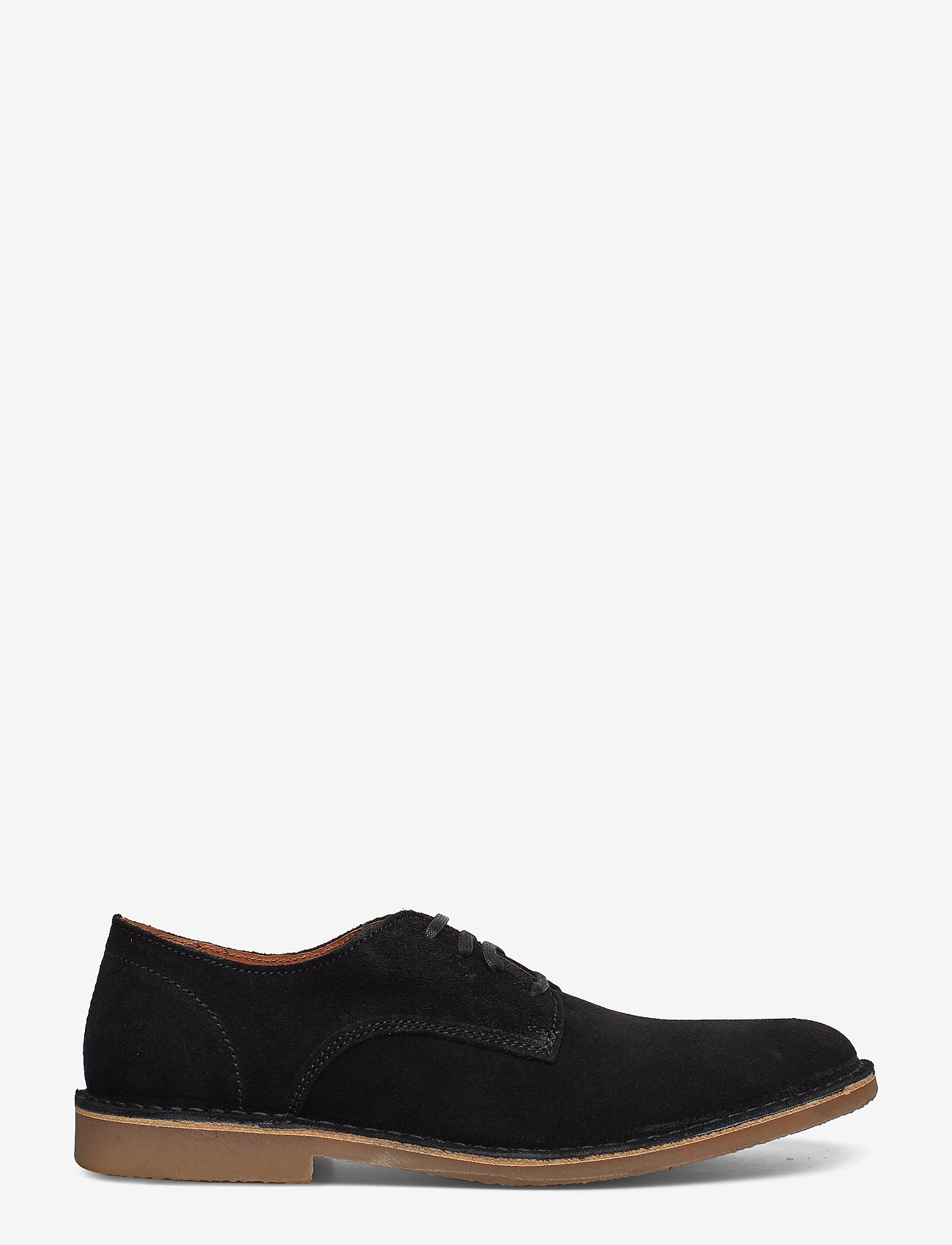 Selected Homme - SLHROYCE DERBY LIGHT SUEDE SHOE W - veterschoenen - black - 1