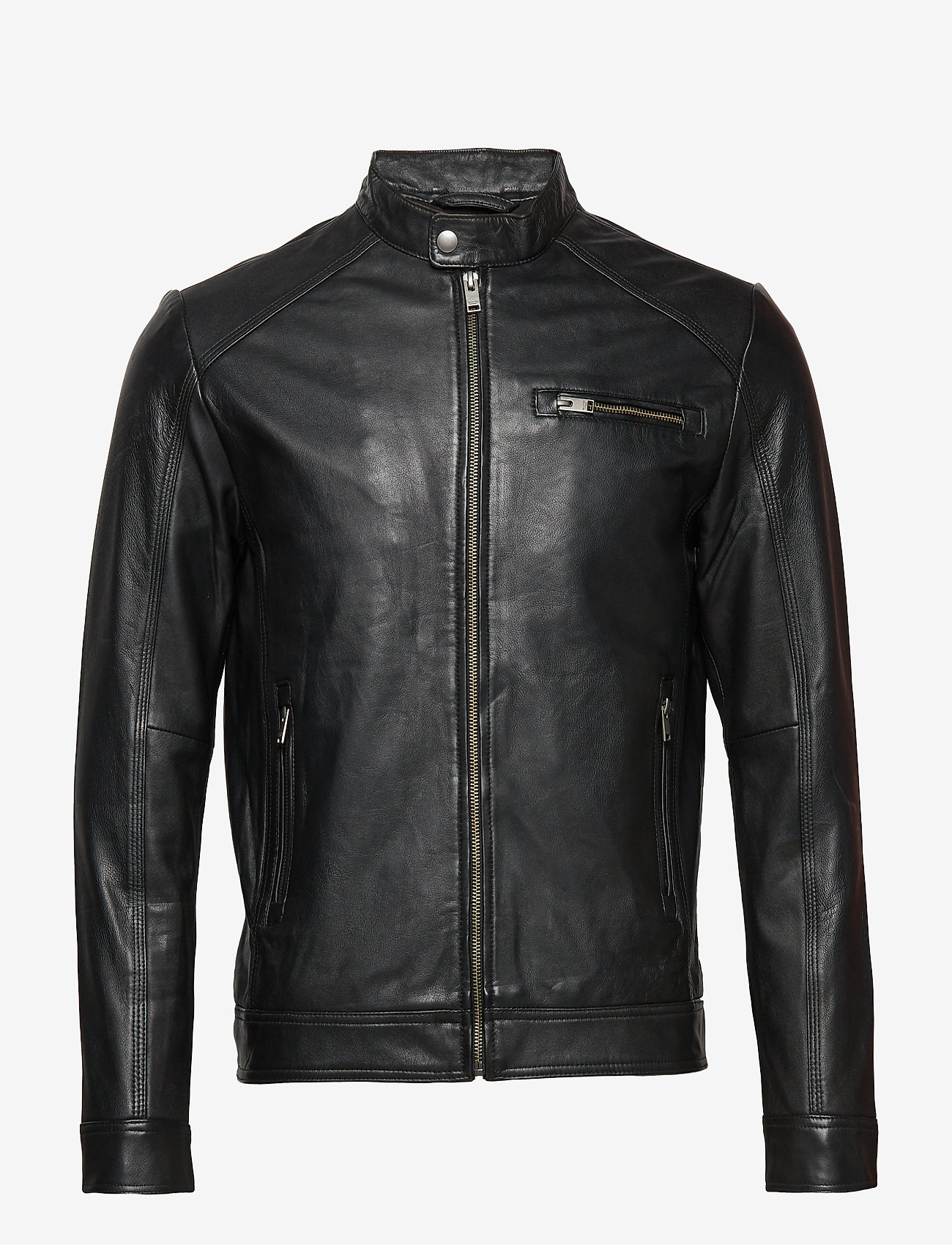 Selected Homme - SLH C-01 CLASSIC LEATHER JACKET W NOOS - nahkatakit - black - 0