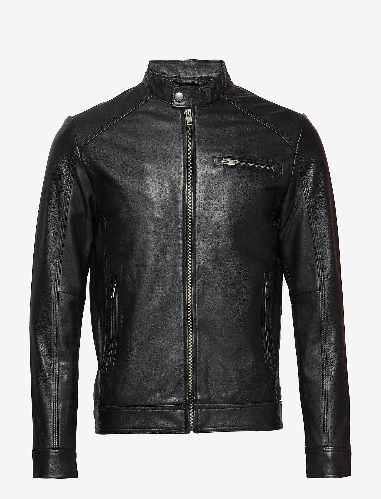 Selected Homme - SLH C-01 CLASSIC LEATHER JACKET W NOOS - lederjacken - black - 0