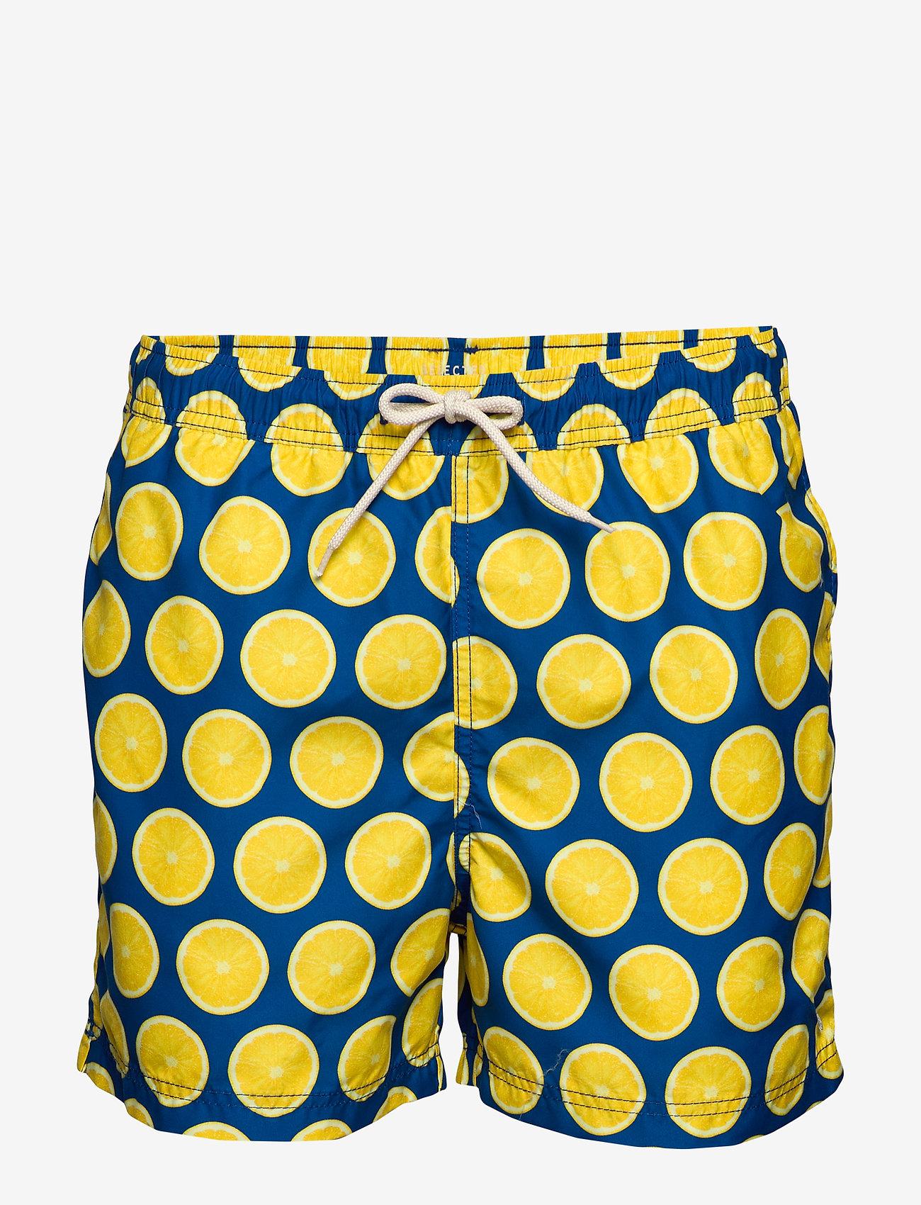Selected Homme - SLHCLASSIC AOP SWIMSHORTS W - swim shorts - estate blue - 0