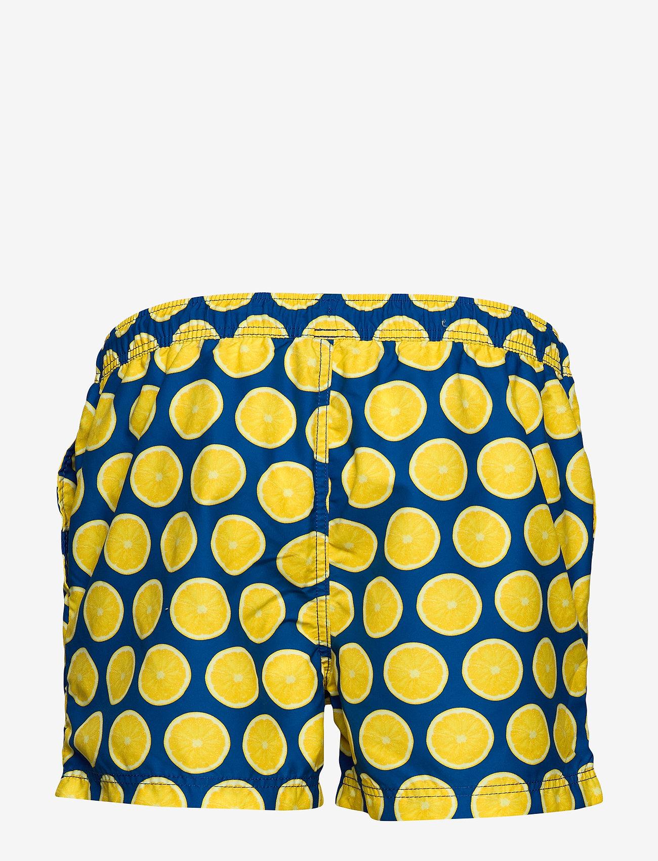 Selected Homme - SLHCLASSIC AOP SWIMSHORTS W - swim shorts - estate blue - 1