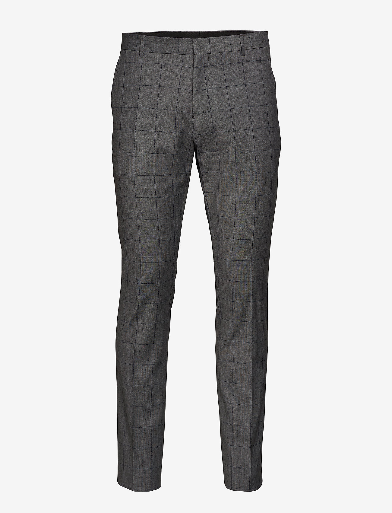 Selected Homme - SLHSLIM-MYLOROB GREY CHECK TRS B NOOS - suit trousers - grey