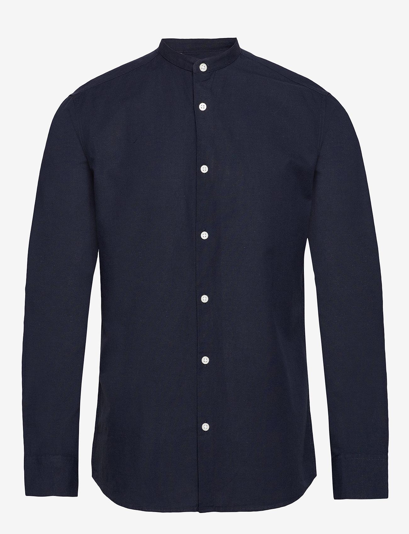Selected Homme - SLHSLIMLINEN SHIRT LS CHINA B - basic skjorter - sky captain - 0