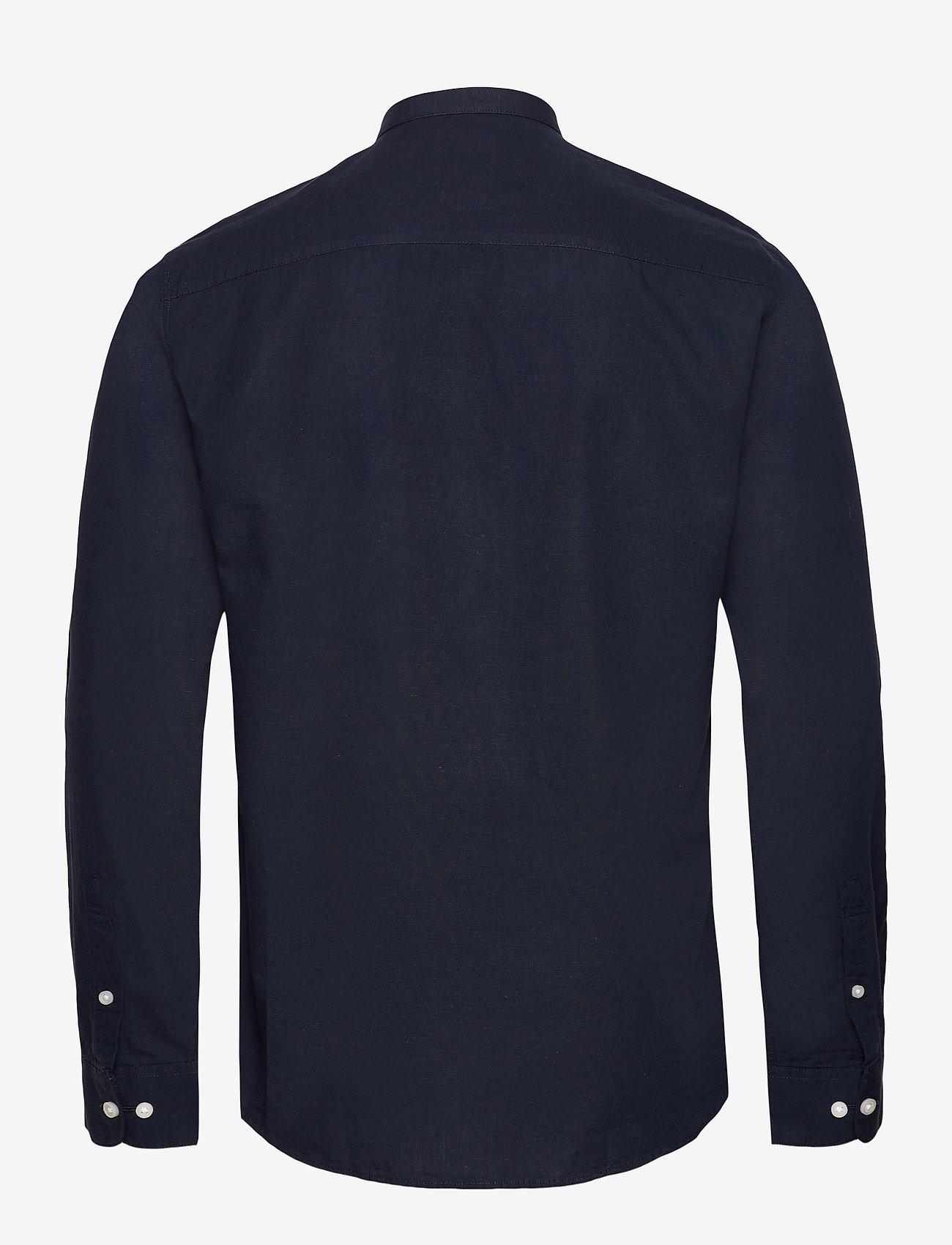 Selected Homme - SLHSLIMLINEN SHIRT LS CHINA B - basic skjorter - sky captain - 1