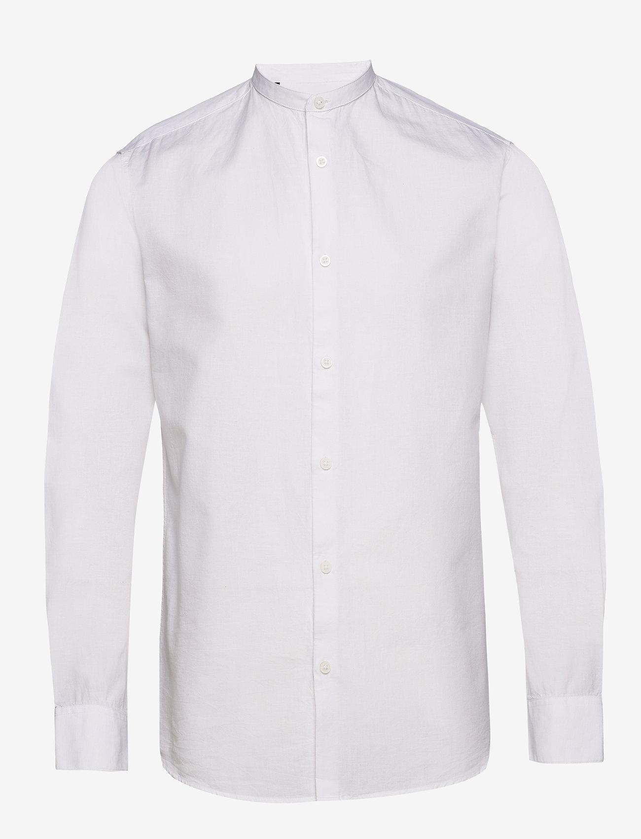 Selected Homme - SLHSLIMLINEN SHIRT LS CHINA B - basic skjorter - white - 0