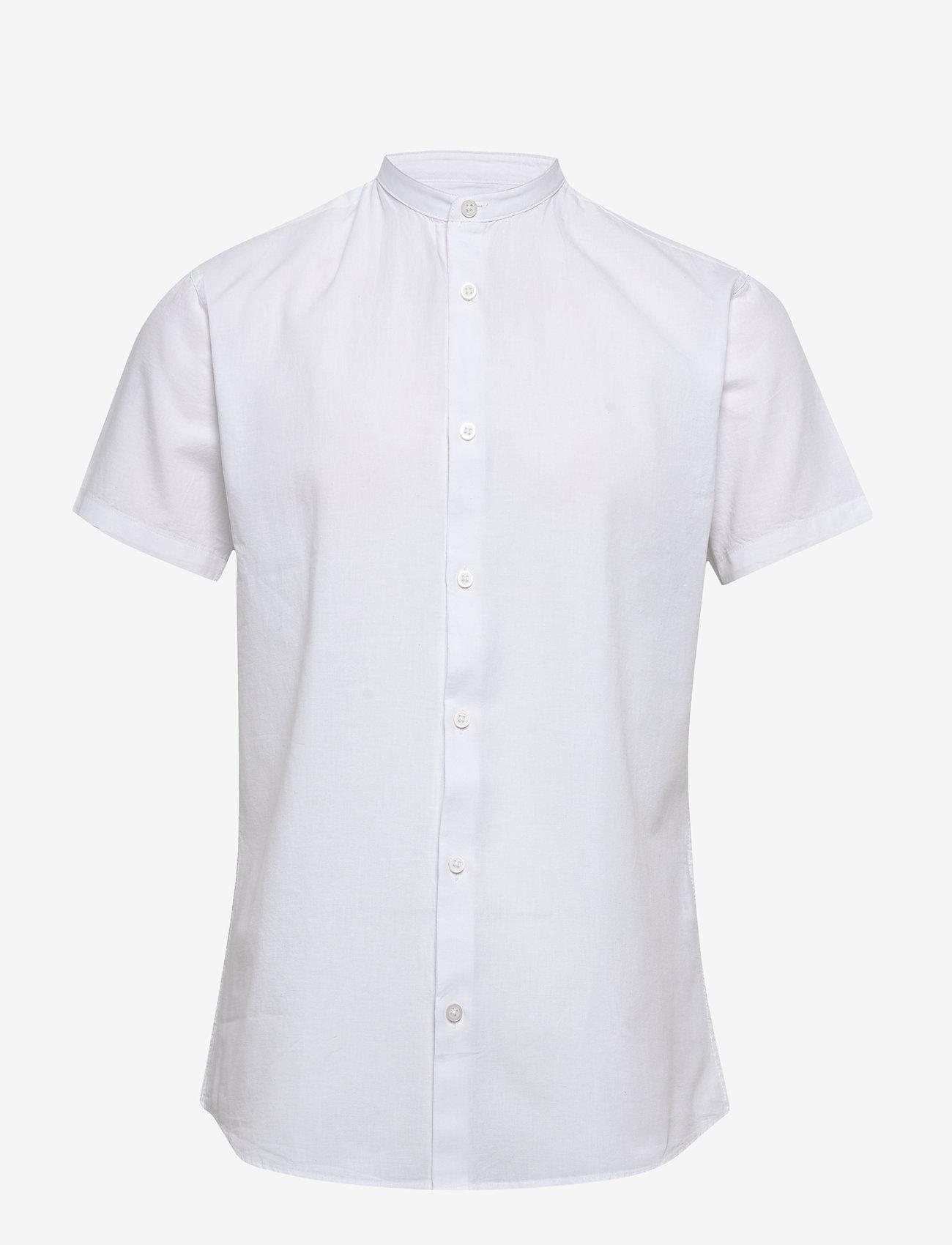 Selected Homme - SLHSLIMLINEN SHIRT SS CHINA B - basic skjorter - white - 0