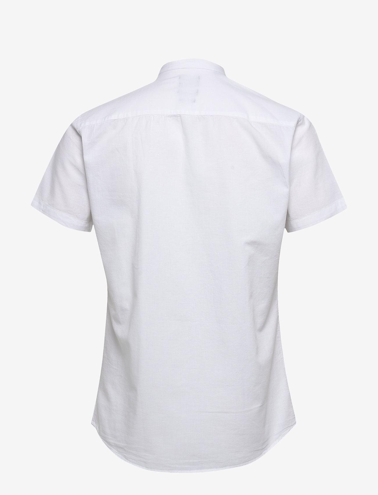 Selected Homme - SLHSLIMLINEN SHIRT SS CHINA B - basic skjorter - white - 1
