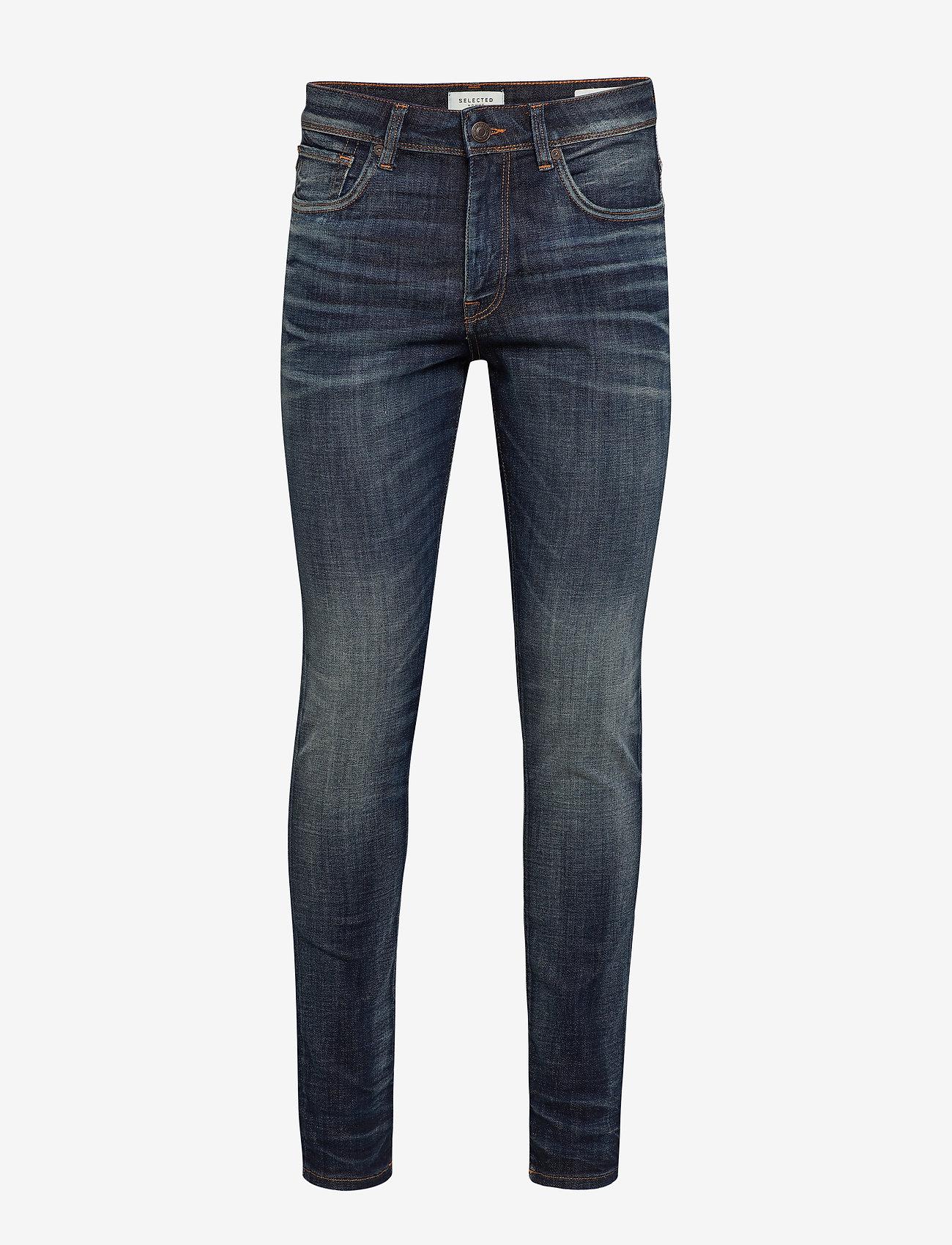 Selected Homme - SLHSLIM-LEON 6164 D. BLUE ST JNS W NOOS - slim jeans - dark blue denim - 0