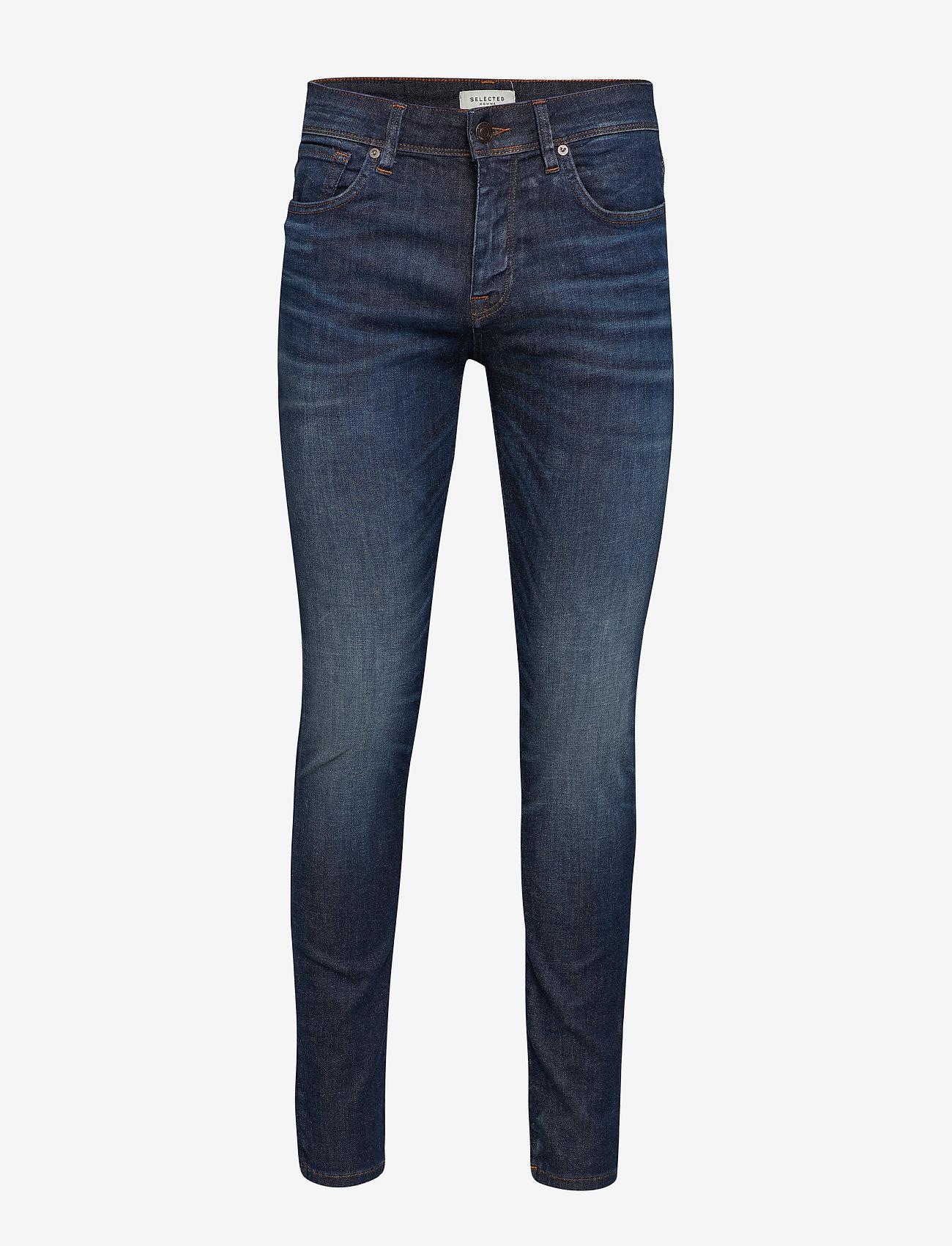 Selected Homme - SLHSLIM-LEON 6156 D.BLU SU-ST JNS W NOOS - slim jeans - dark blue denim - 0
