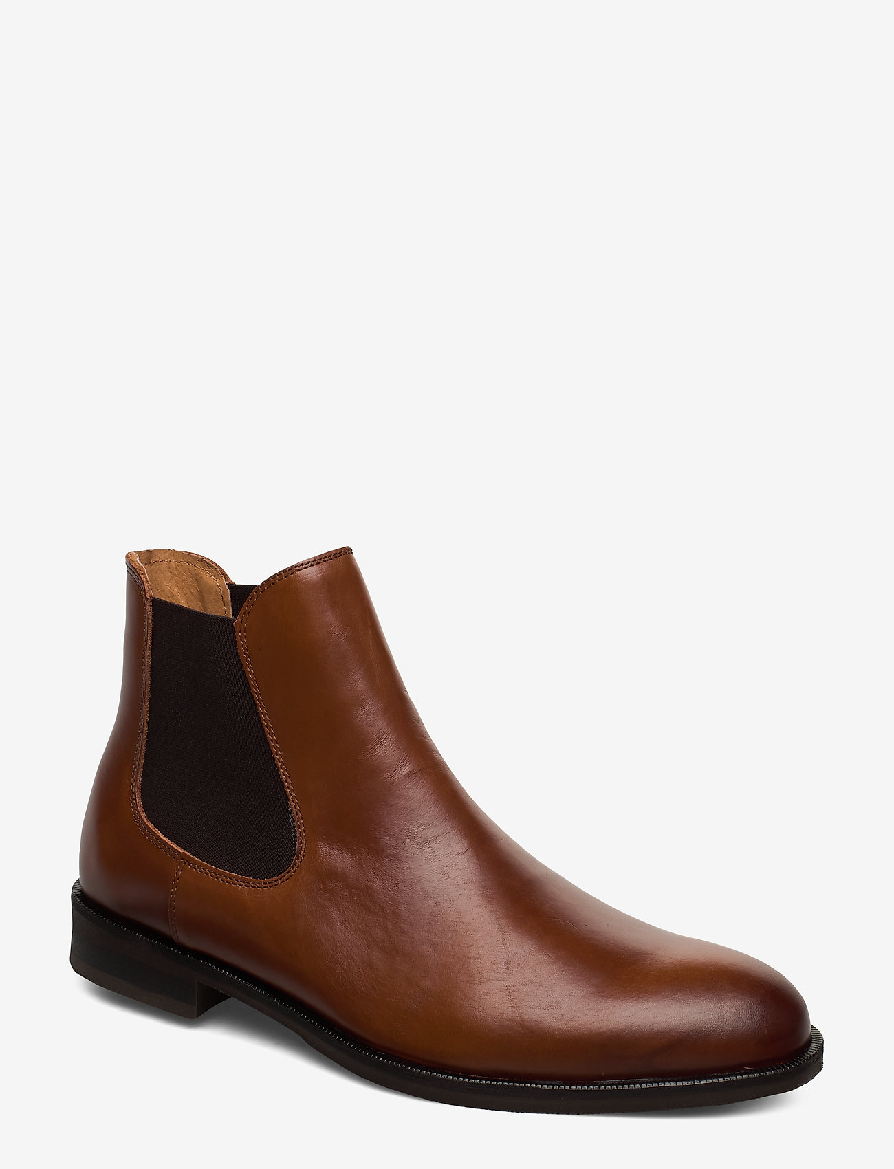 Selected Homme - SLHLOUIS LEATHER CHELSEA BOOT B NOOS - chelsea boots - cognac - 0