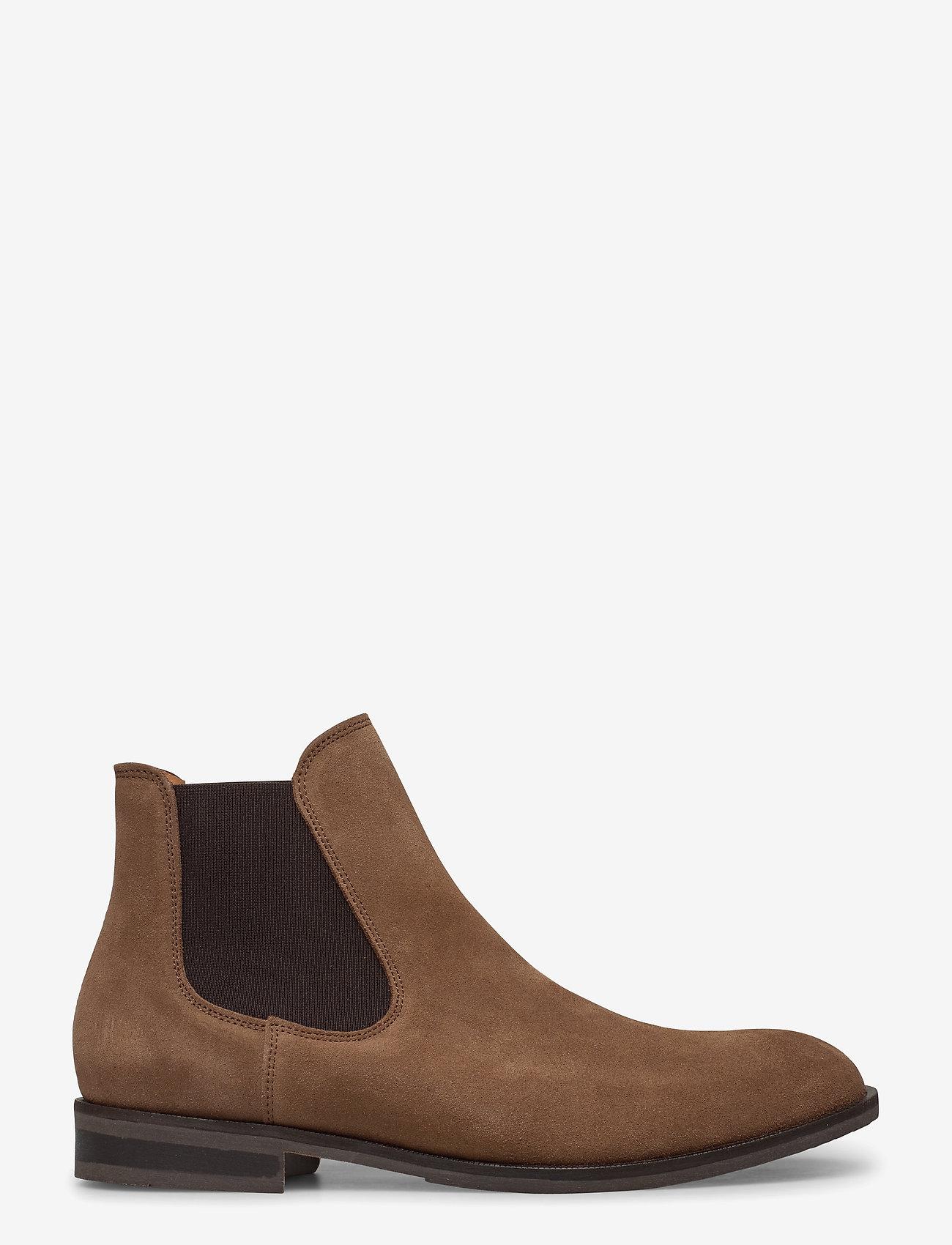 Selected Homme - SLHLOUIS SUEDE CHELSEA BOOT B NOOS - chelsea boots - cognac - 1