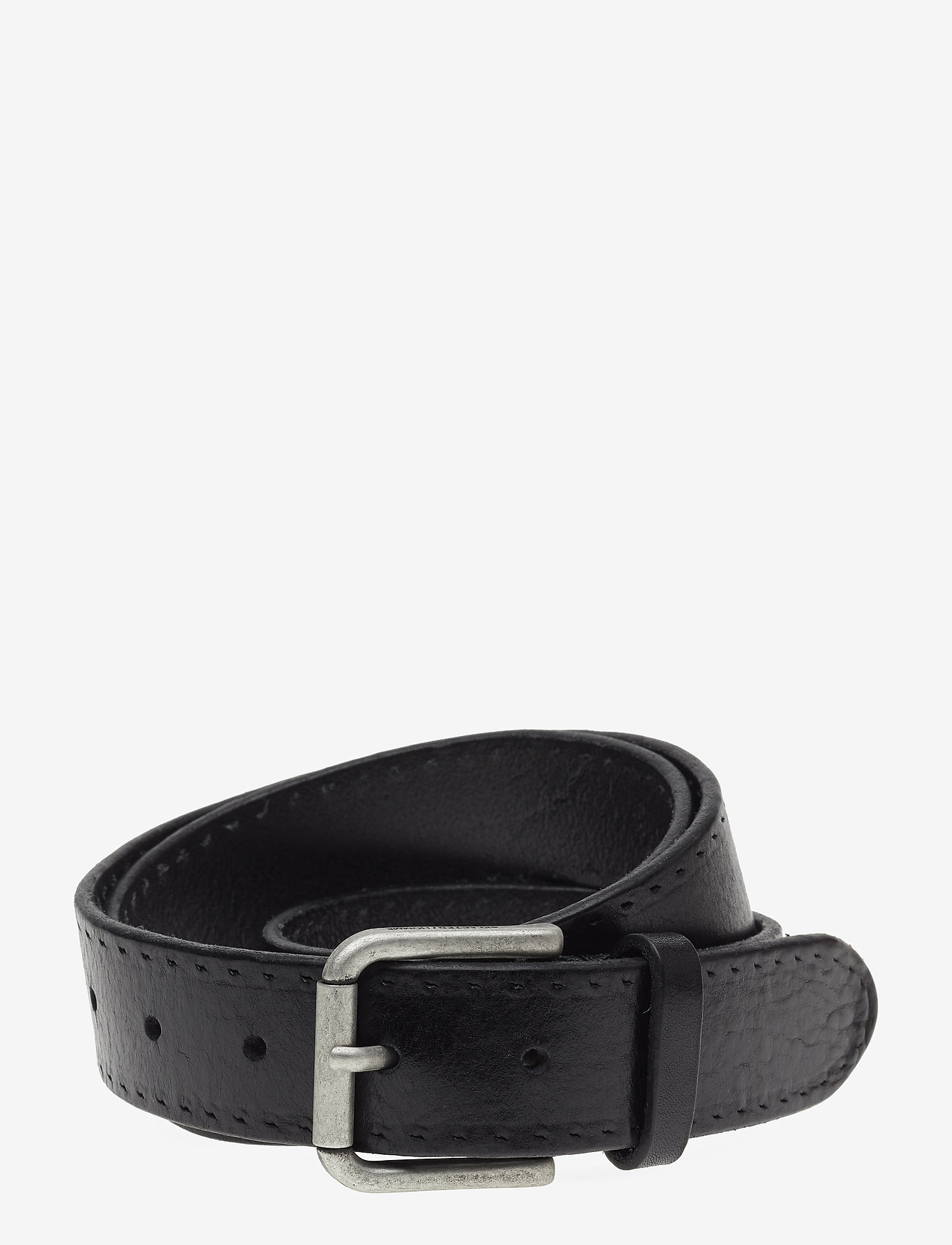 Selected Homme - SLHTERREL LEATHER BELT NOOS W - riemen - black - 0