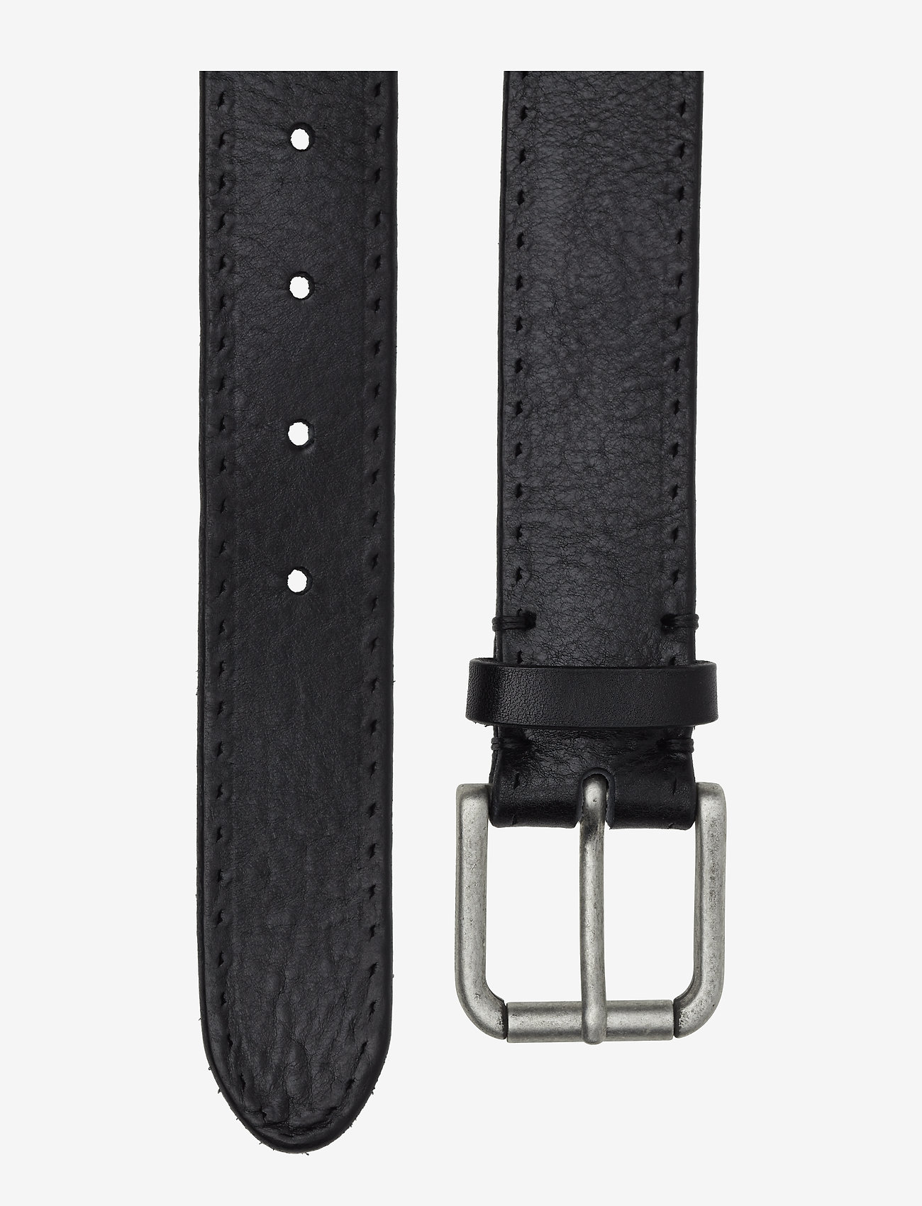 Selected Homme - SLHTERREL LEATHER BELT NOOS W - riemen - black - 1