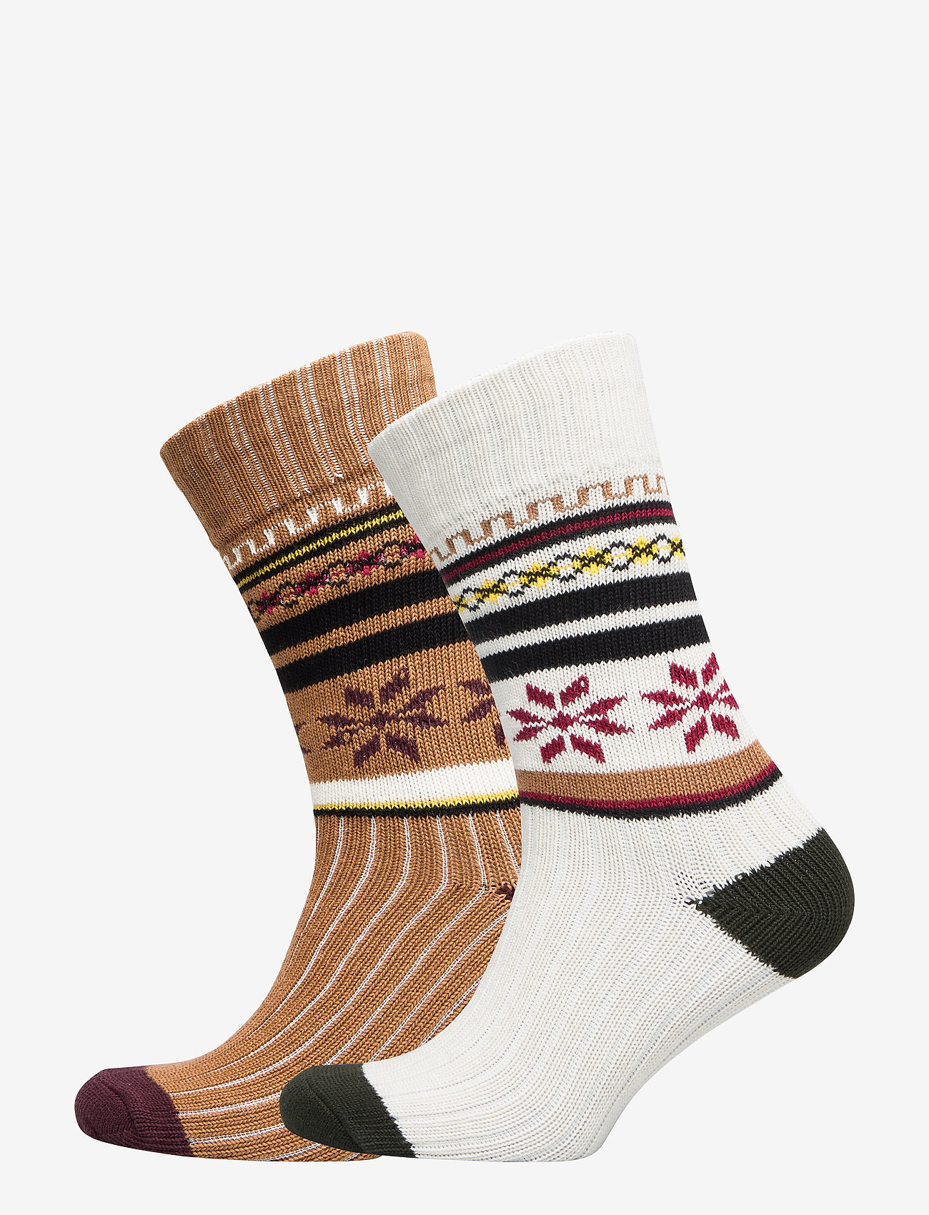 Selected Homme - SLH2-PACK HEAVY FLAKE SOCK W - regular socks - tobacco brown