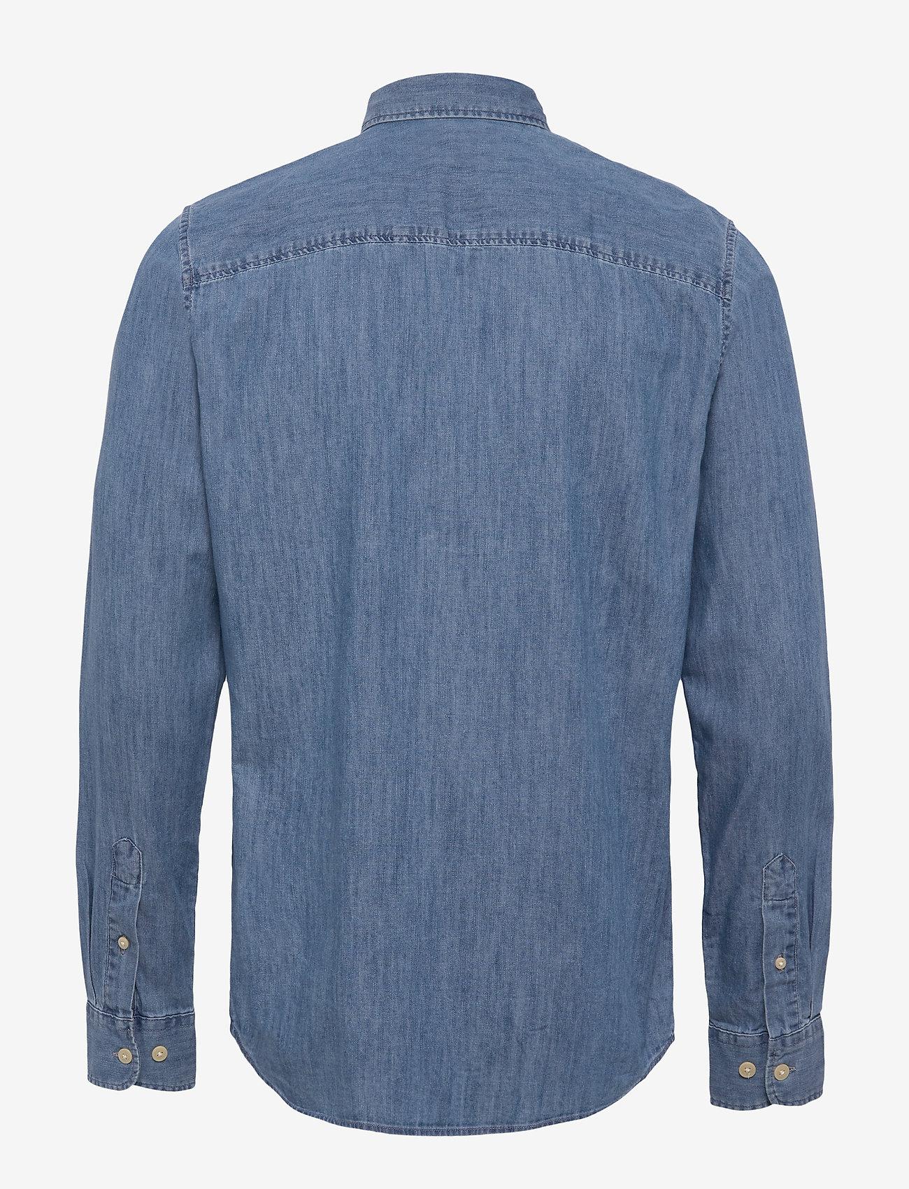 Selected Homme - SLHREGPERFECT-LARSON SHIRT LS W - peruspaitoja - light blue denim - 1