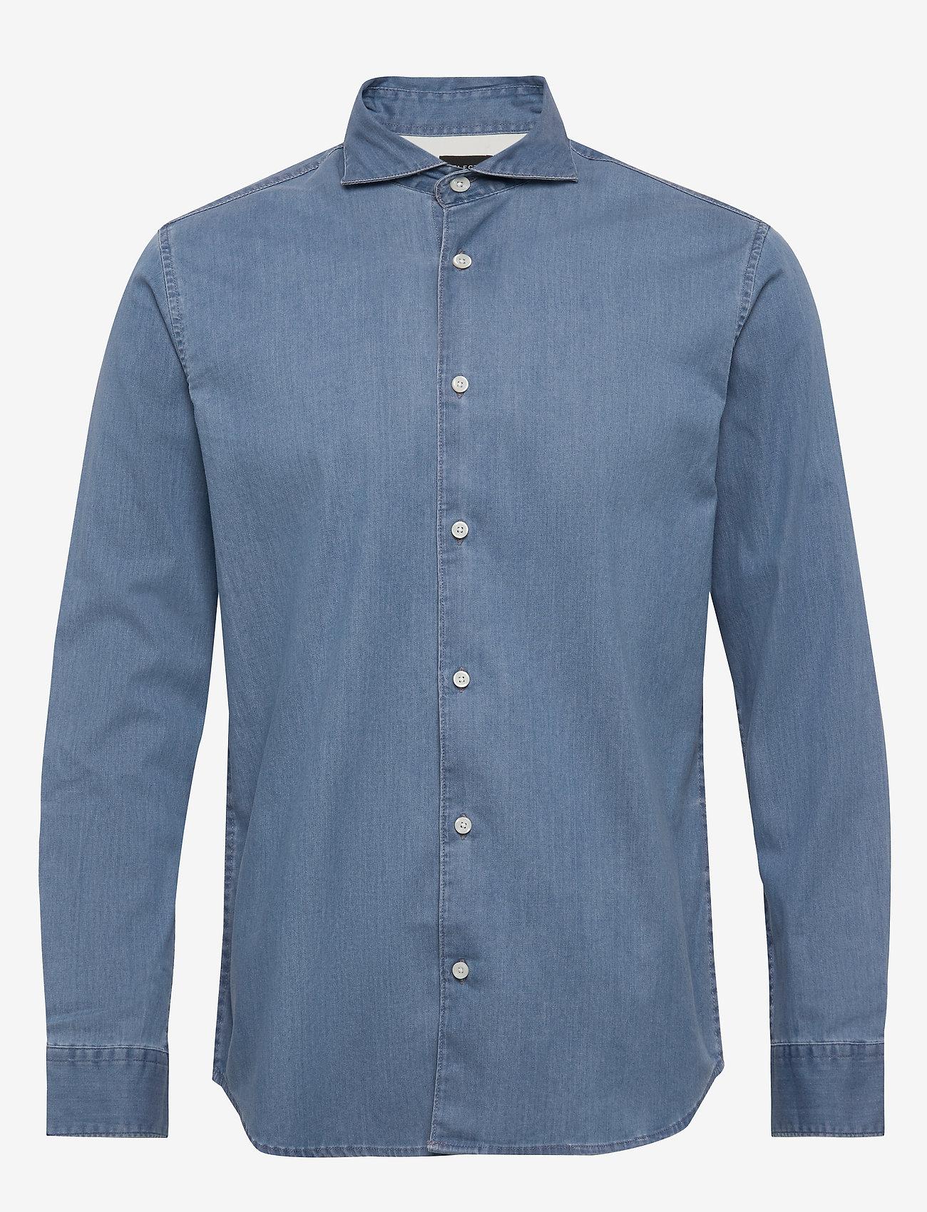 Selected Homme - SLHREGSEL-NOOR SHIRT LS B NOOS - podstawowe koszulki - medium blue denim - 0