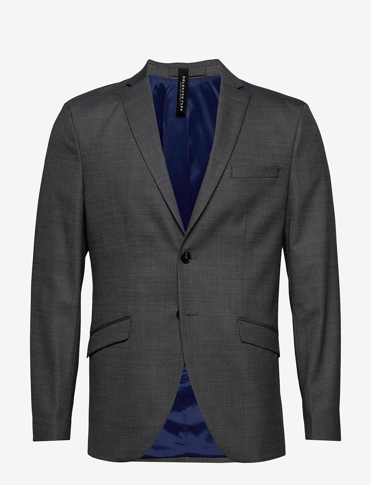 Selected Homme - SLHSLIM-MYLOSTATE FLEX GR STR BLZ B NOOS - enkeltradede blazere - grey - 0