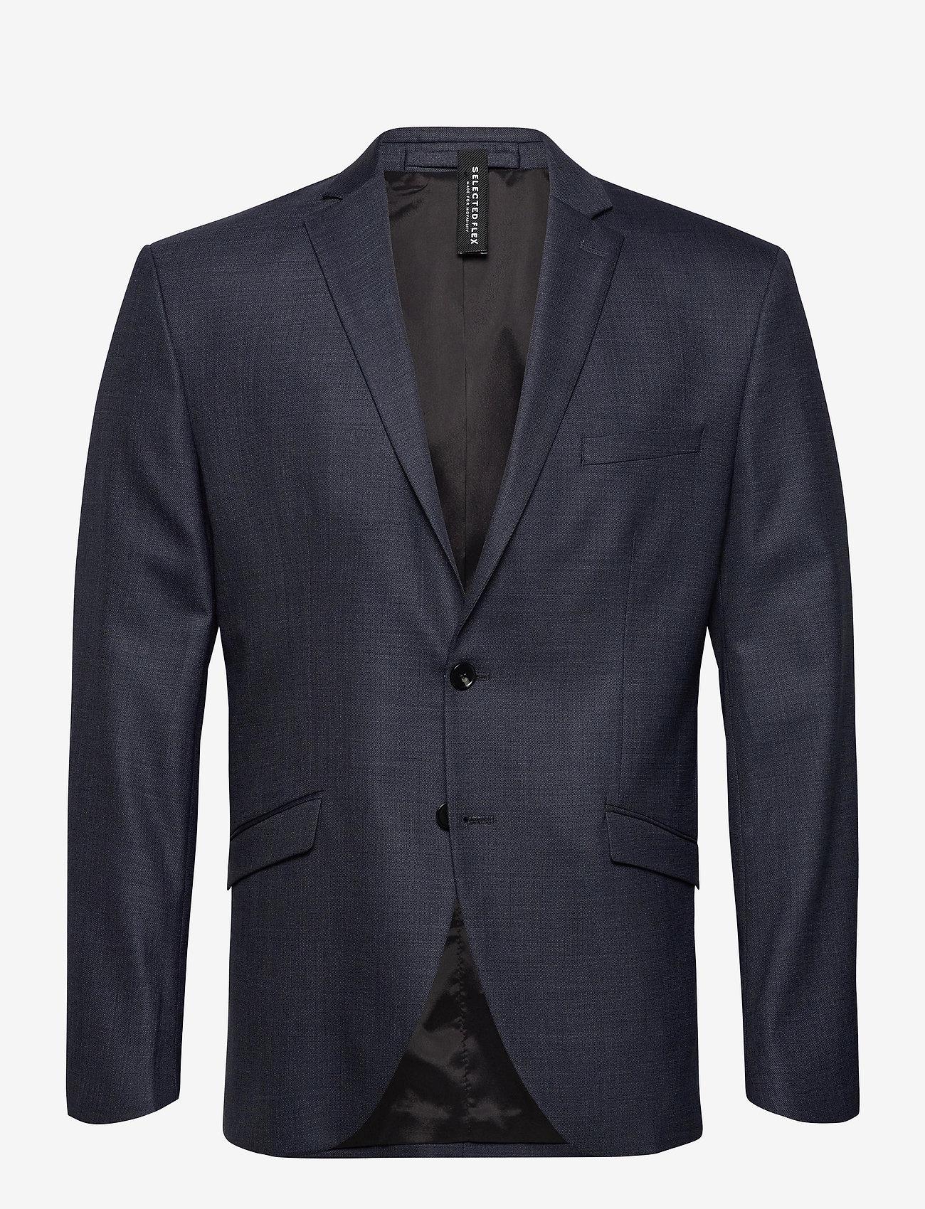 Selected Homme - SLHSLIM-MYLOSTATE FLEX BL STR BLZ B NOOS - marynarki jednorzędowe - dark blue - 0