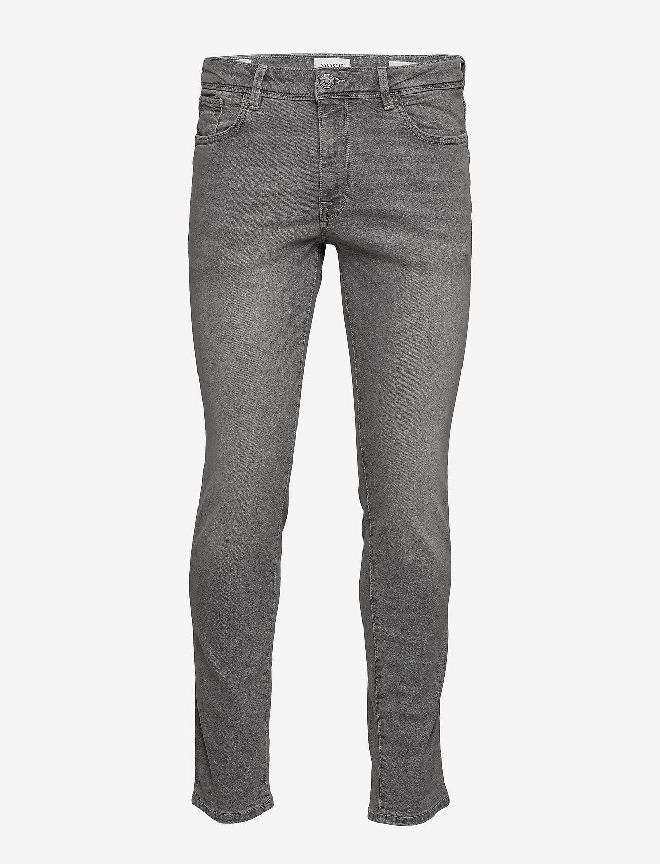 Selected Homme - SLHSLIM-LEON 3021 L.GREY ST JEANS W NOOS - slim jeans - light grey denim