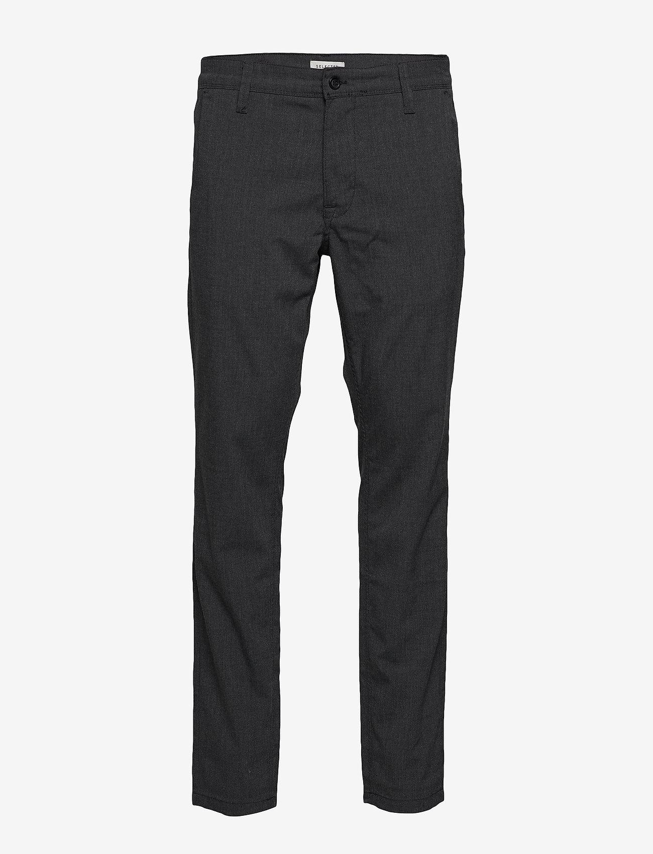 Selected Homme - SLHSLIM-STORM FLEX SMART PANTS W NOOS - suitbukser - grey melange - 0