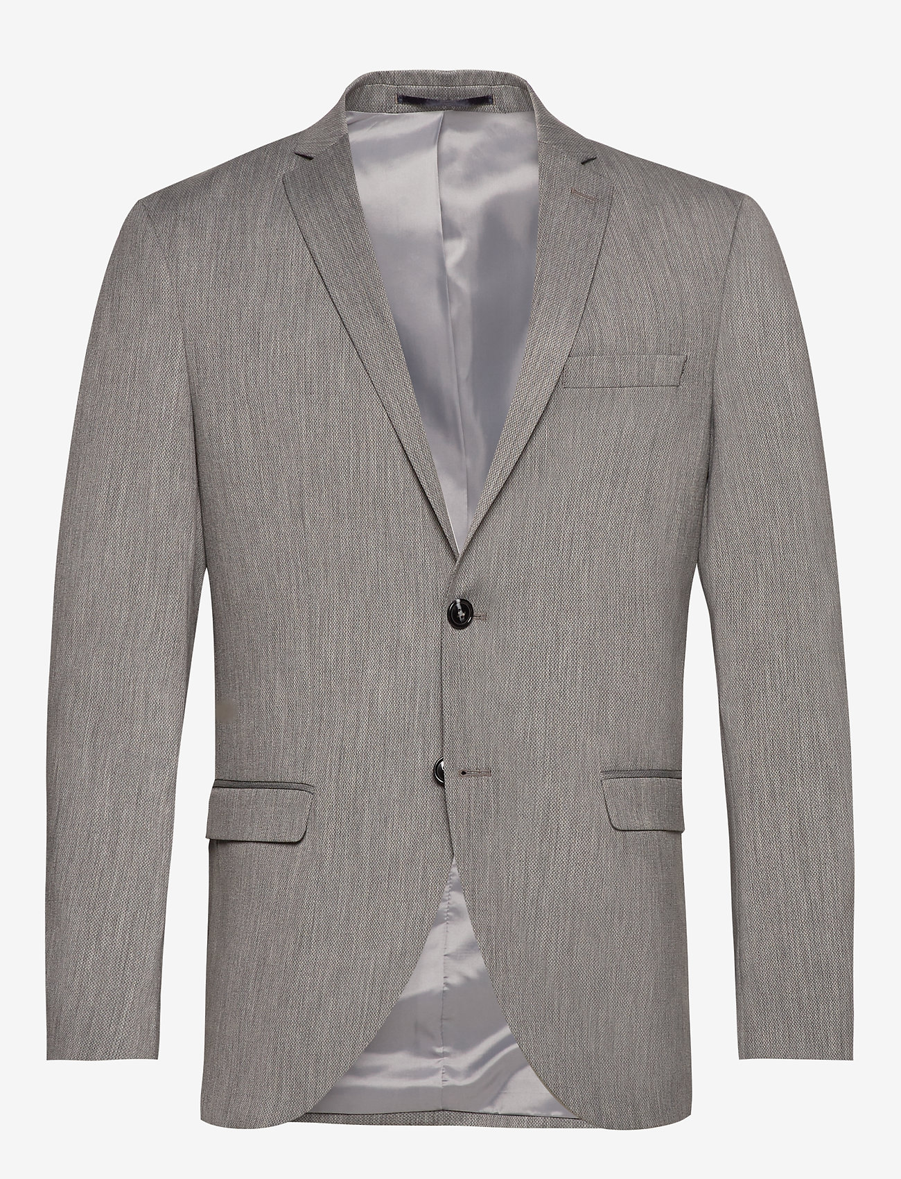 Selected Homme - SLHSLIM-MYLOBILL LT GREY STRC BLZ B NOOS - marynarki jednorzędowe - light grey melange - 0