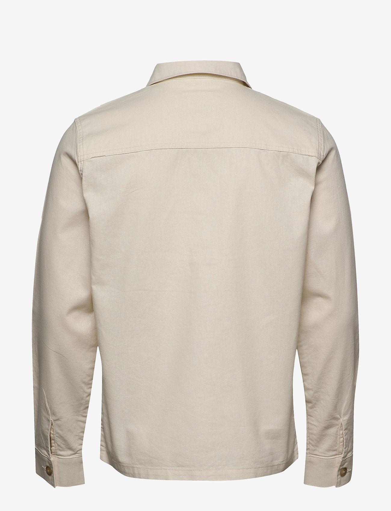 Selected Homme - SLHEAST LINEN OVERSHIRT W - basic skjorter - turtledove - 1
