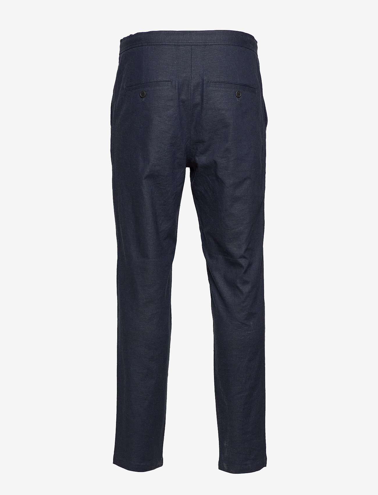 Selected Homme - SLHSLIMTAPERED-DAVE LINEN PANTS B - suit trousers - sky captain