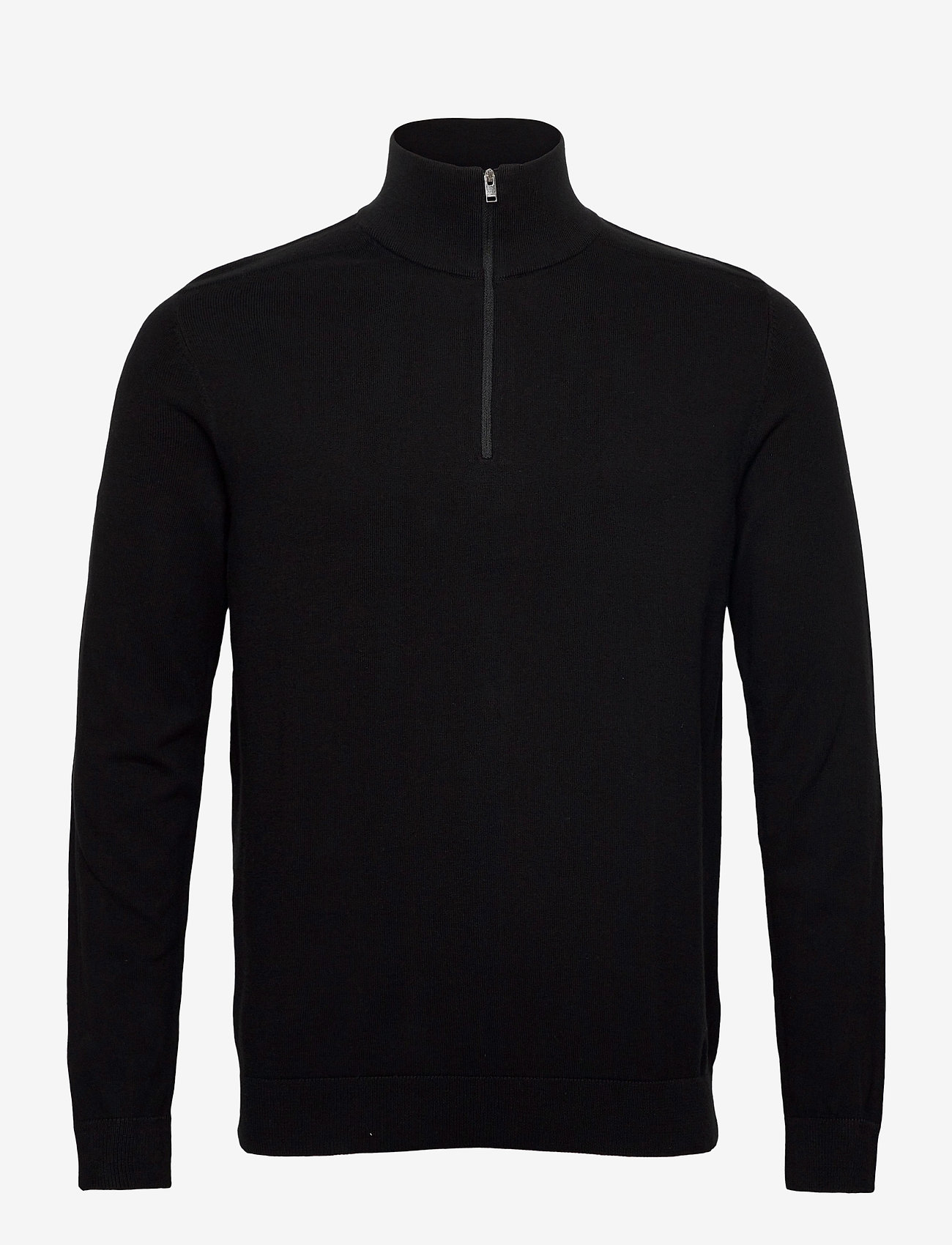 Selected Homme - SLHBERG HALF ZIP CARDIGAN  - half zip - black - 0