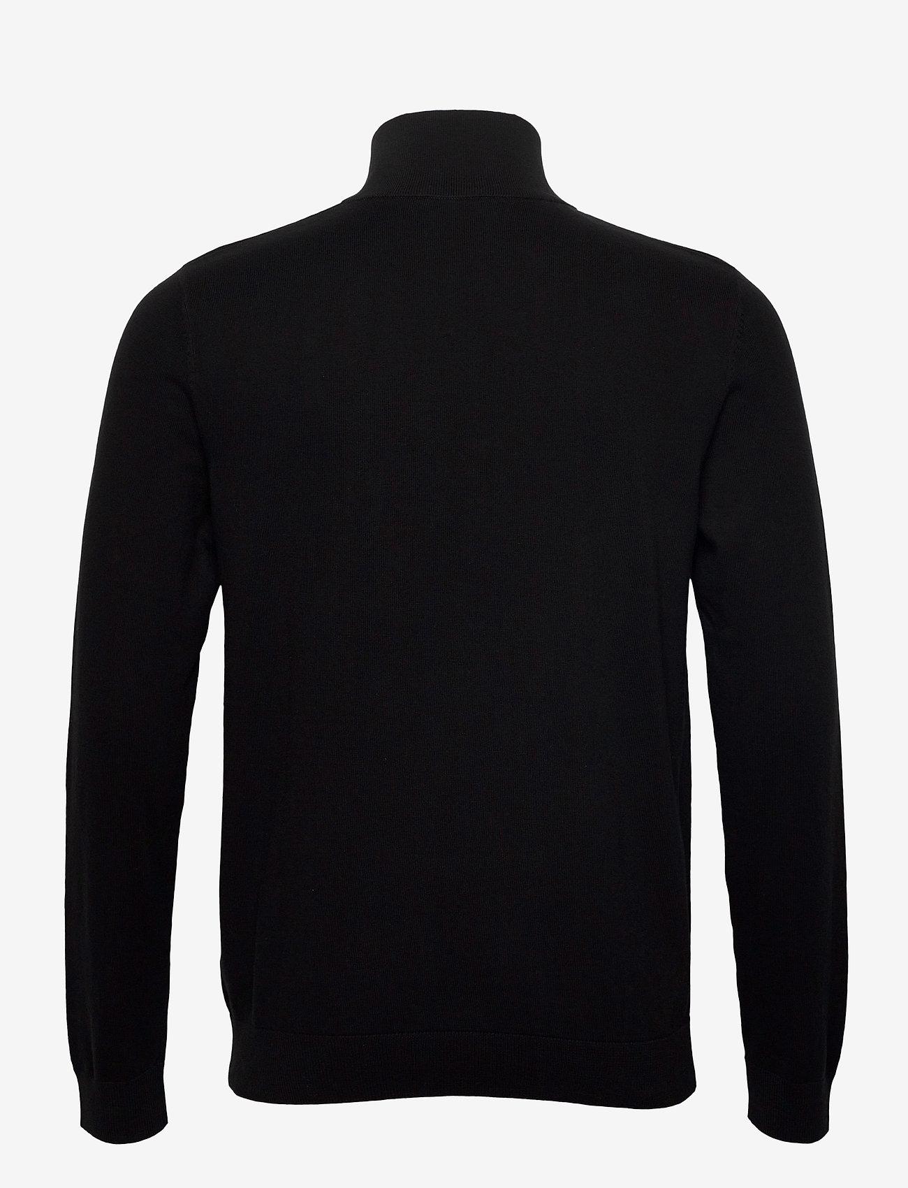 Selected Homme - SLHBERG HALF ZIP CARDIGAN  - half zip - black - 1