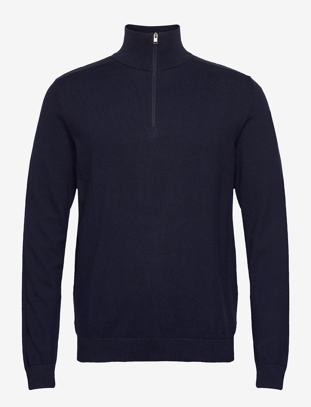 Selected Homme - SLHBERG HALF ZIP CARDIGAN  - half zip - navy blazer - 0