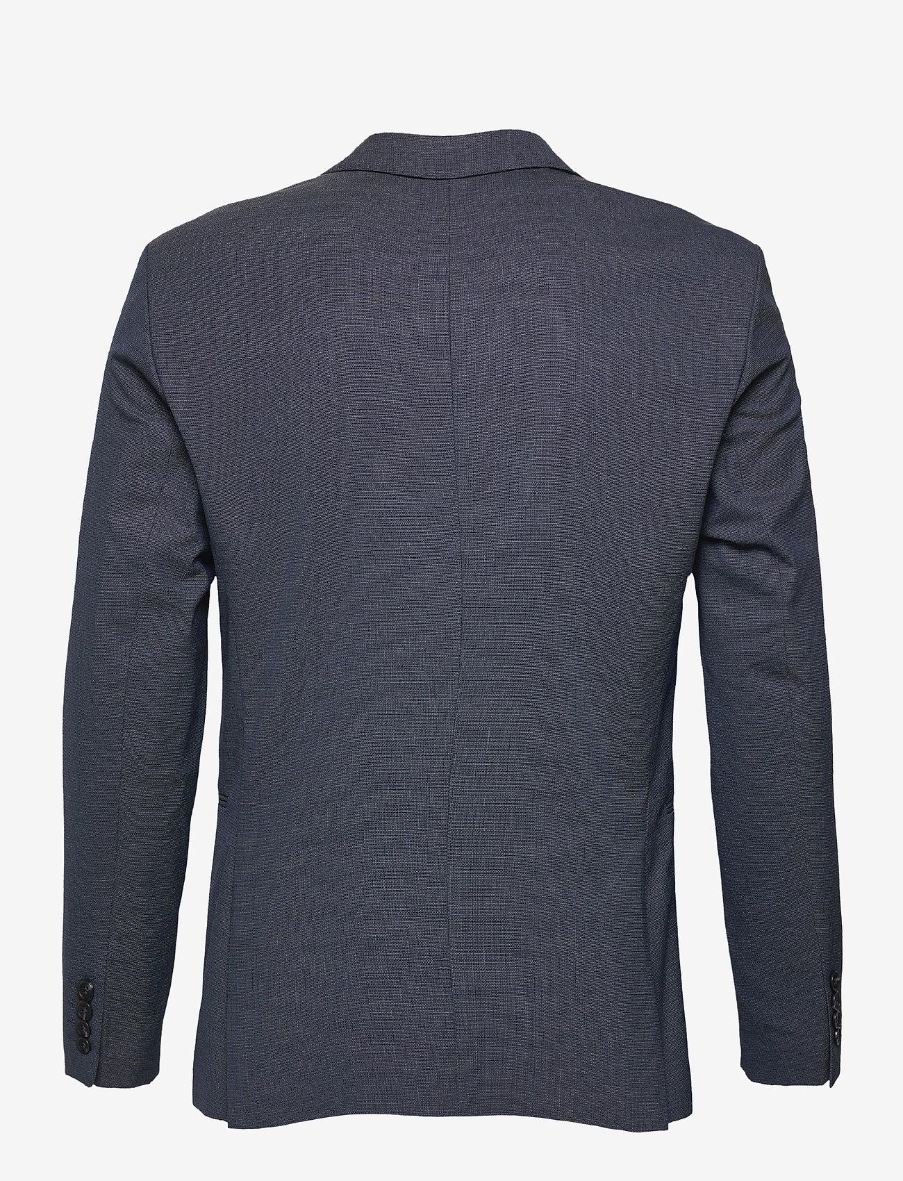 Selected Homme - SLHSLIM-MAZELOGAN BLUE STRUC BLZ B - single breasted blazers - medium blue melange - 1