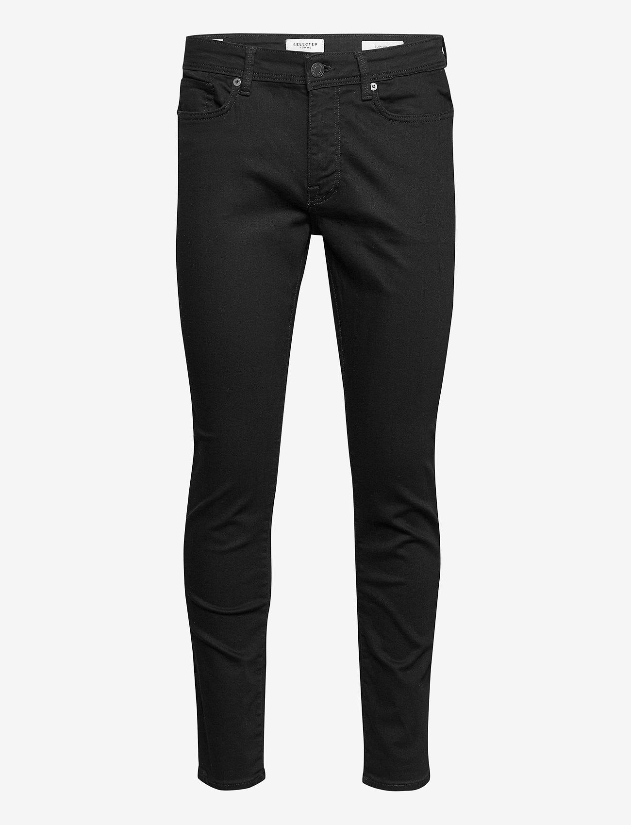 Selected Homme - SLHSLIM-LEON 3031 B SUPER ST JNS J - slim jeans - black denim - 0