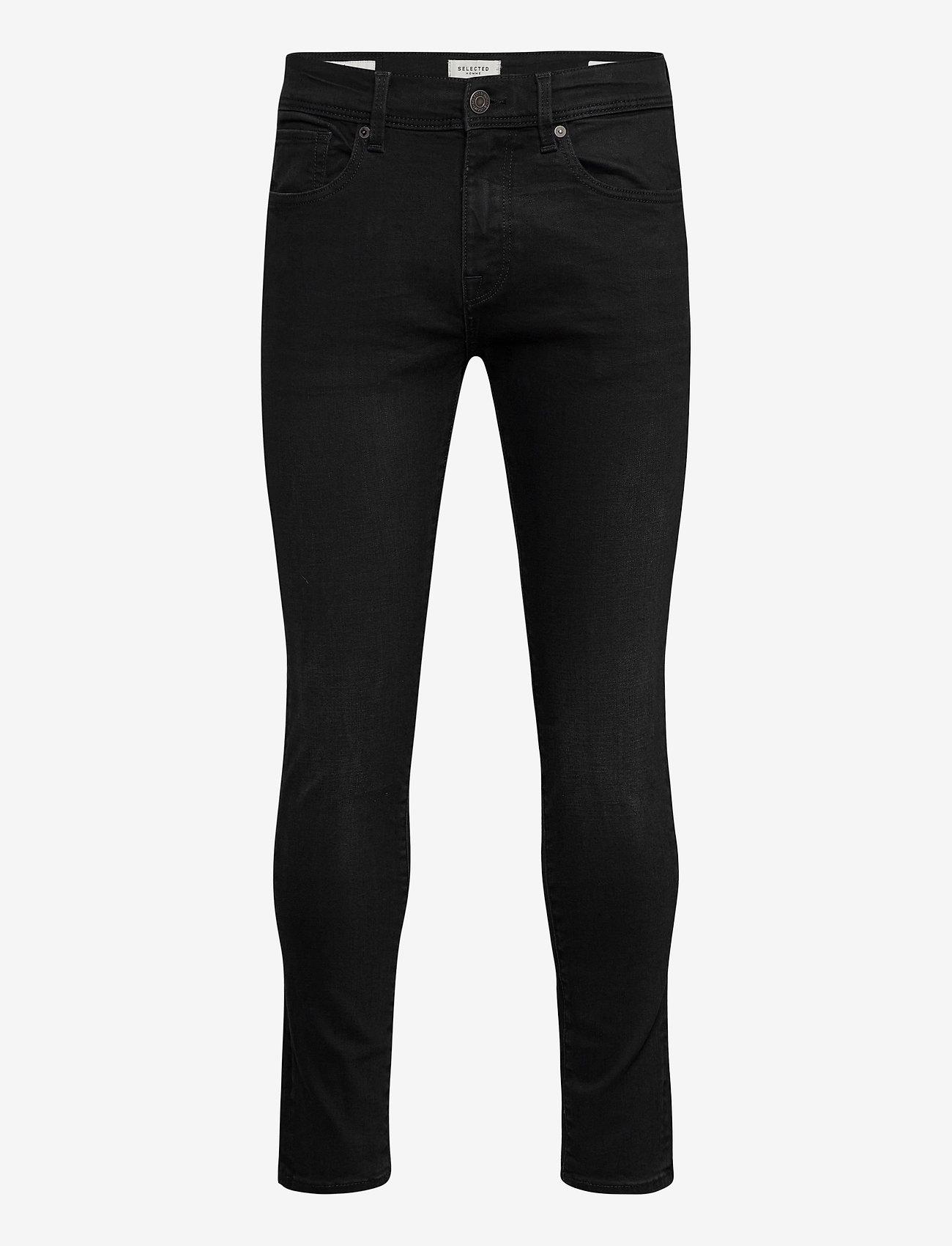 Selected Homme - SLHSLIM-LEON 4003 W. BLACK ST JNS J - slim jeans - black denim - 0