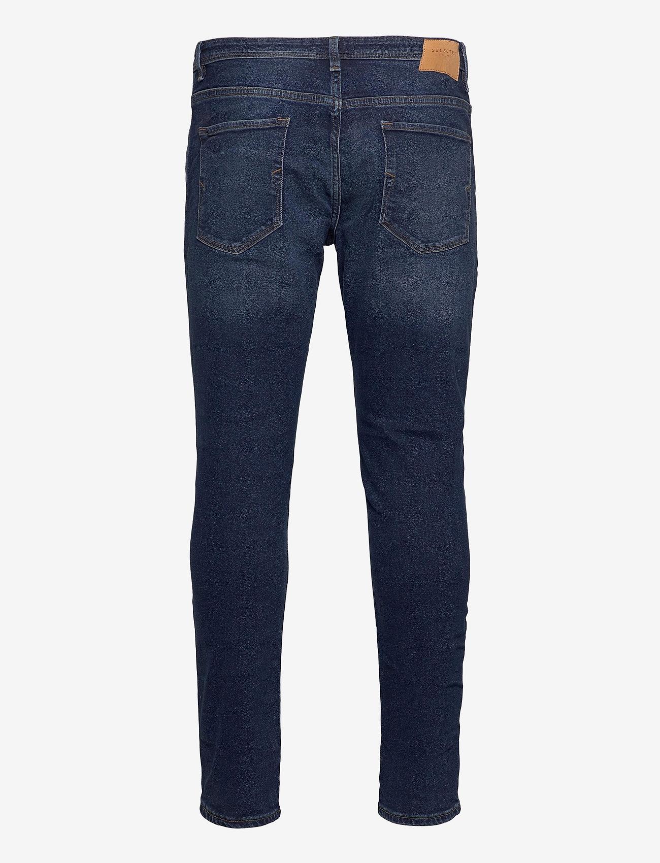Selected Homme - SLHSLIM-LEON 3004 D.BLUE ST JEANS J - slim jeans - dark blue denim - 1
